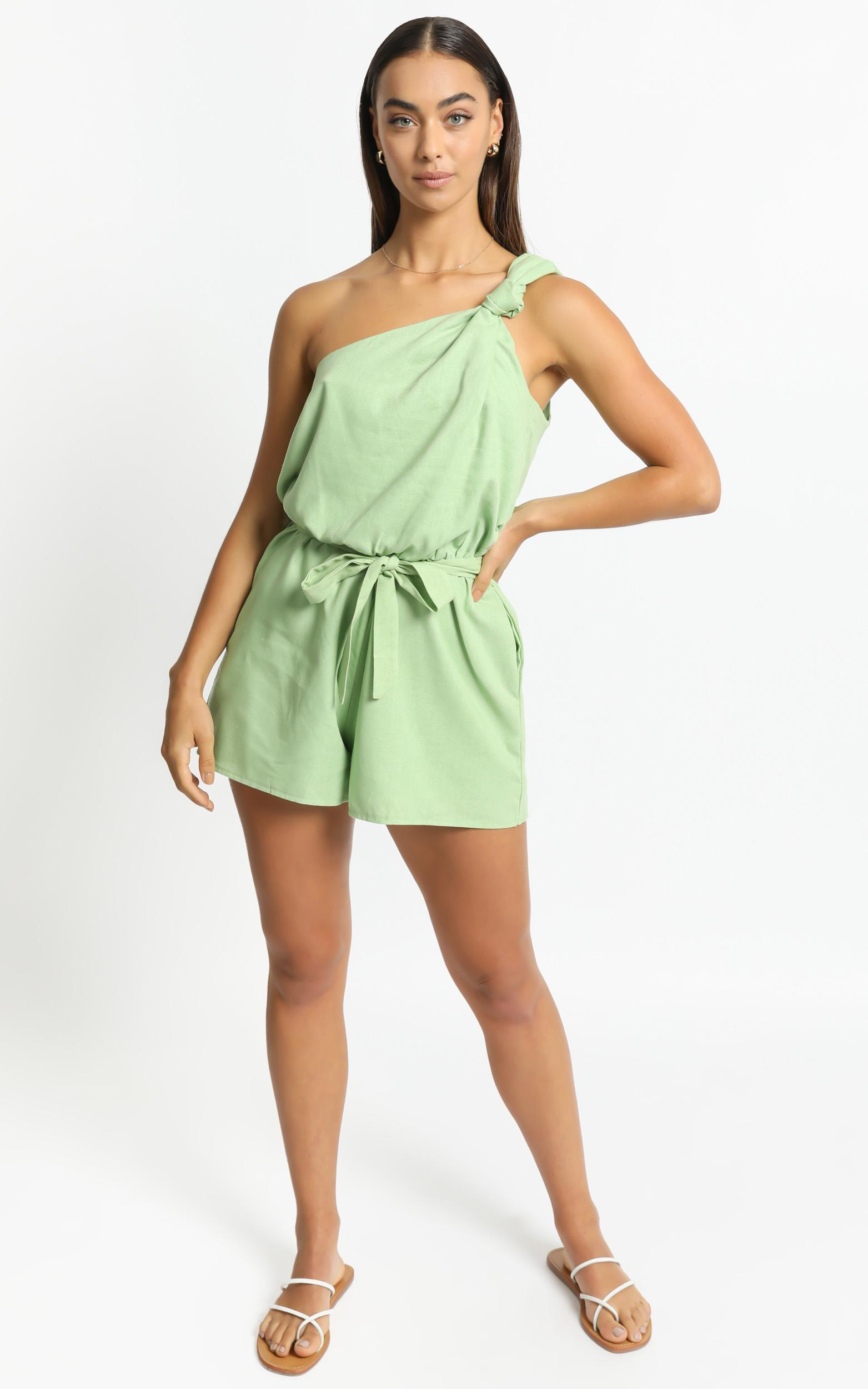 Armelle Playsuit in Green - 6 (XS), Green, hi-res image number null