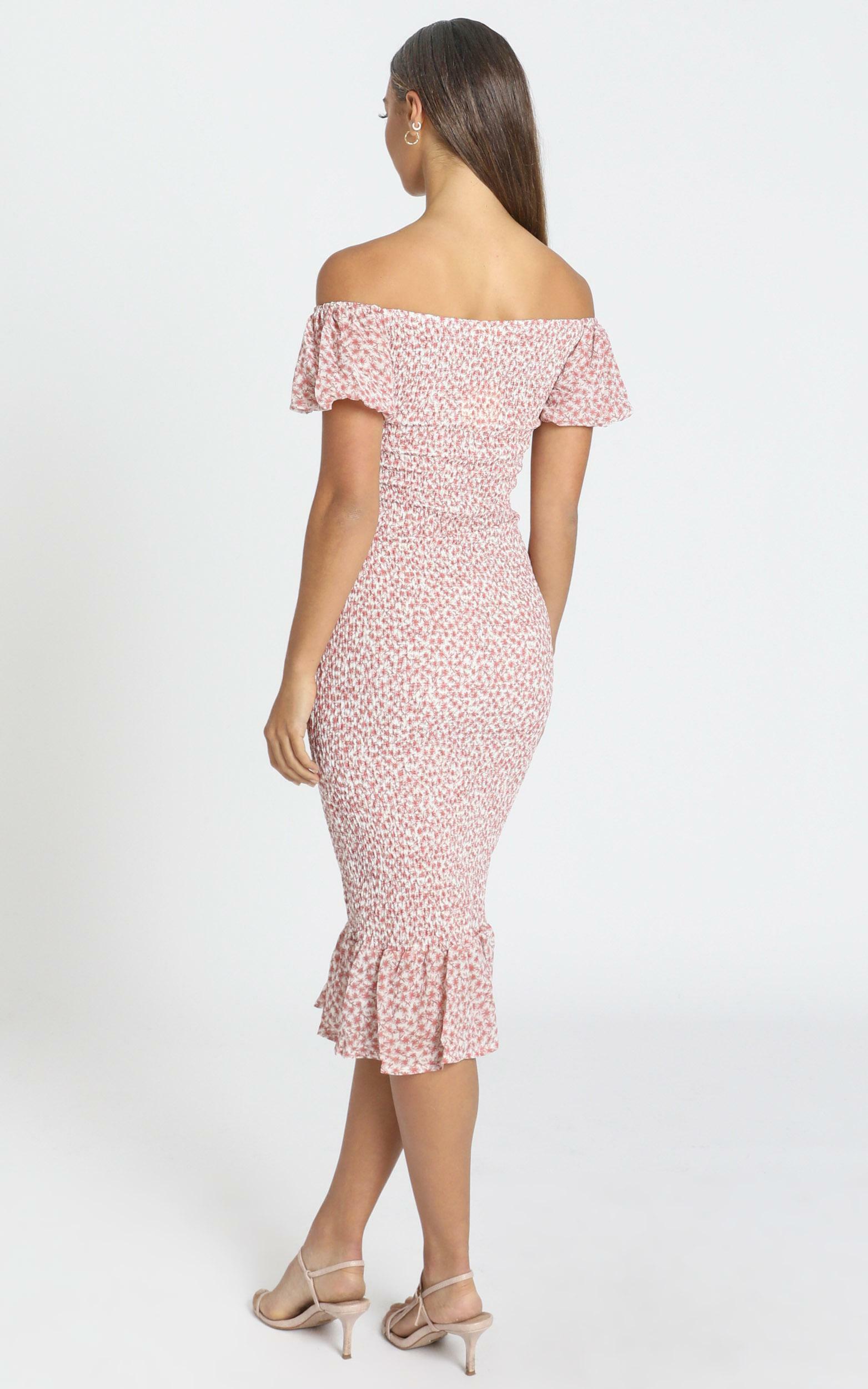 Daphne Dress in Pink Floral - 6 (XS), Pink, hi-res image number null