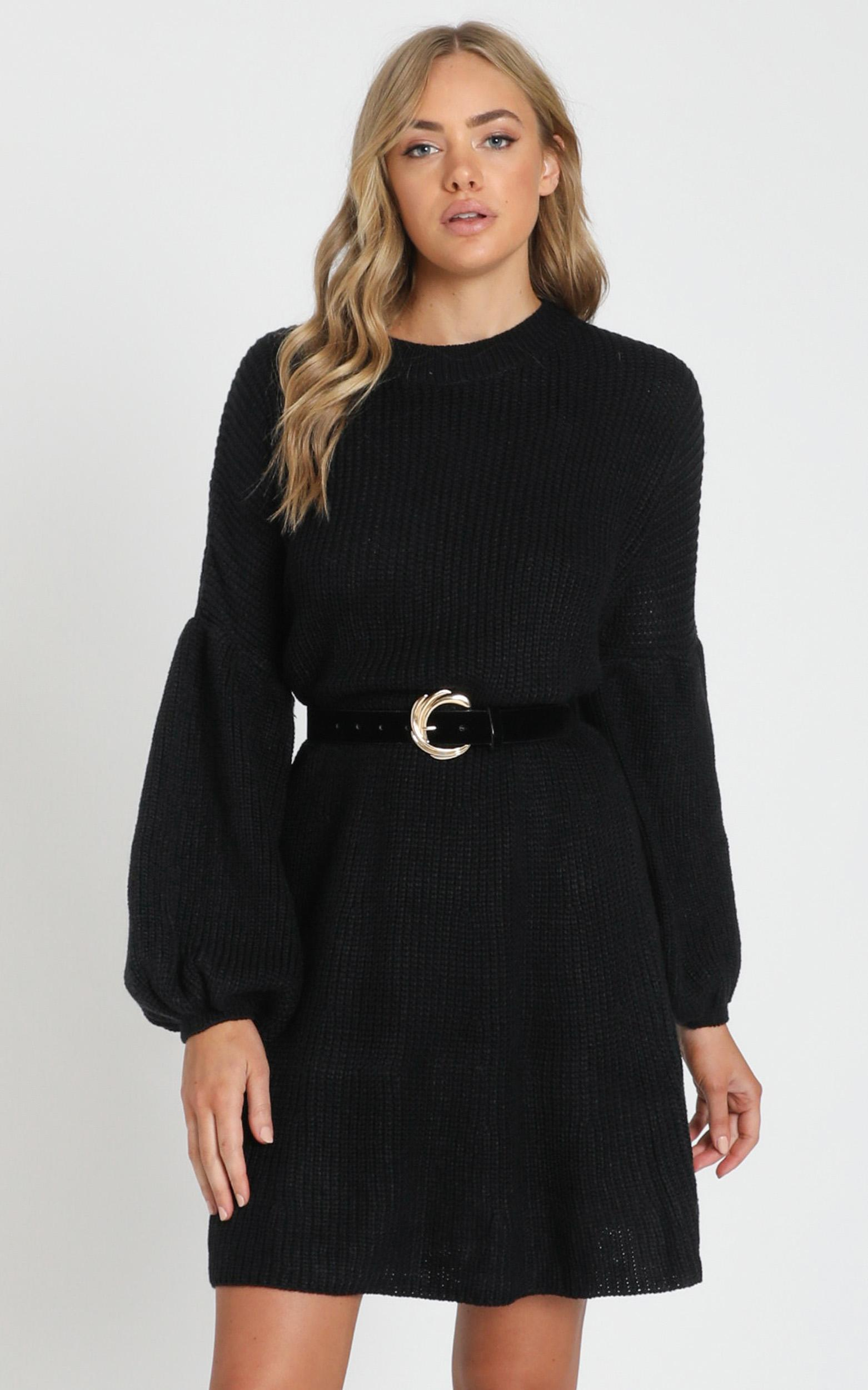 Fearless Now knit dress in black - 18 (XXXL), Black, hi-res image number null