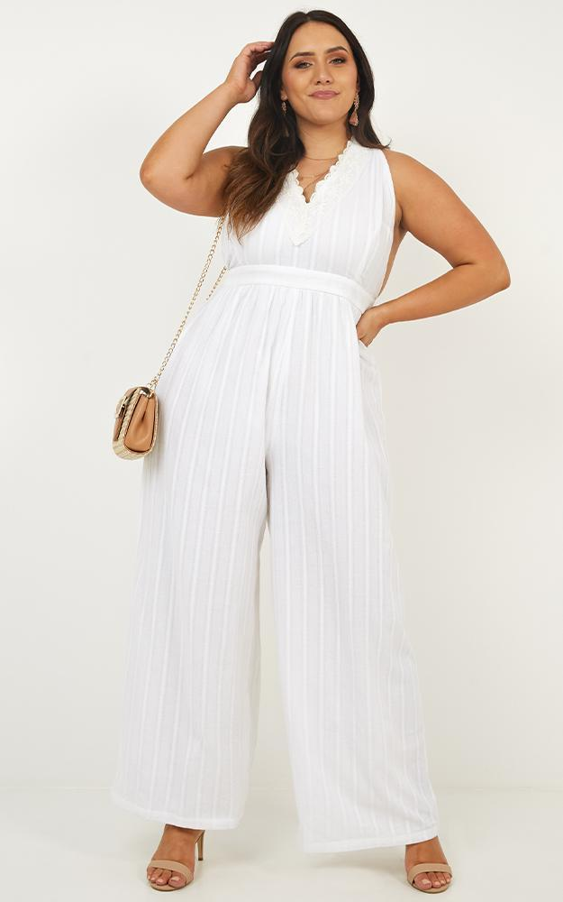 Tell Me So Jumpsuit in white - 14 (XL), White, hi-res image number null