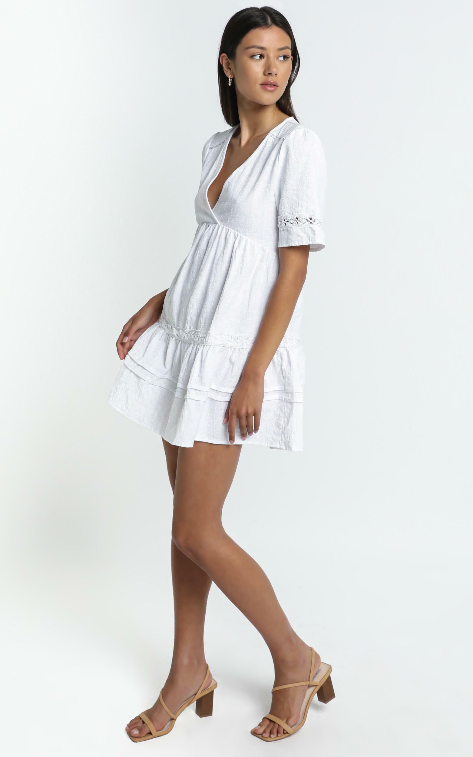 Hampton Dress in White - 6 (XS), White, hi-res image number null