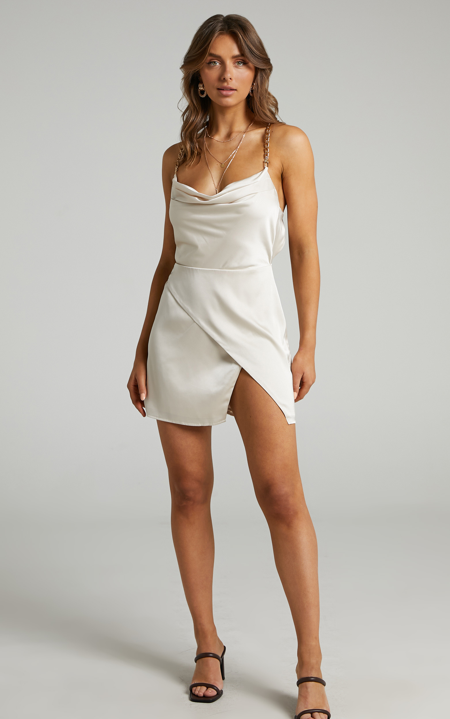 Runaway The Label - Dallas Dress in Champagne - L, NEU2, hi-res image number null
