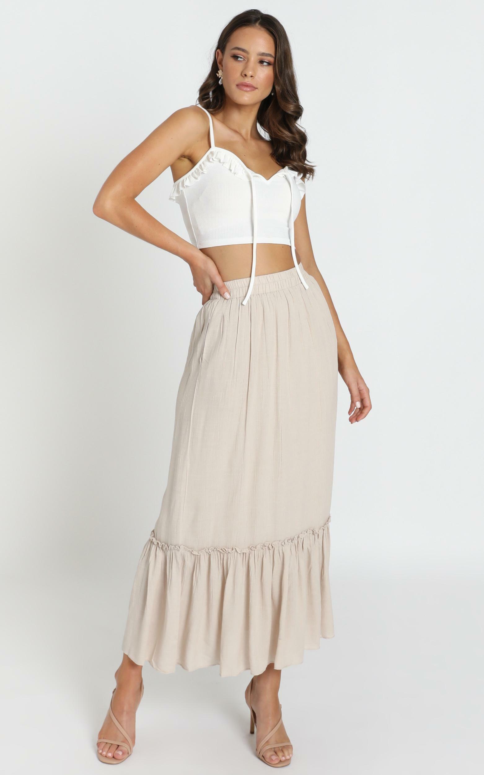 Fatima Boho Skirt in beige - 6 (XS), Beige, hi-res image number null