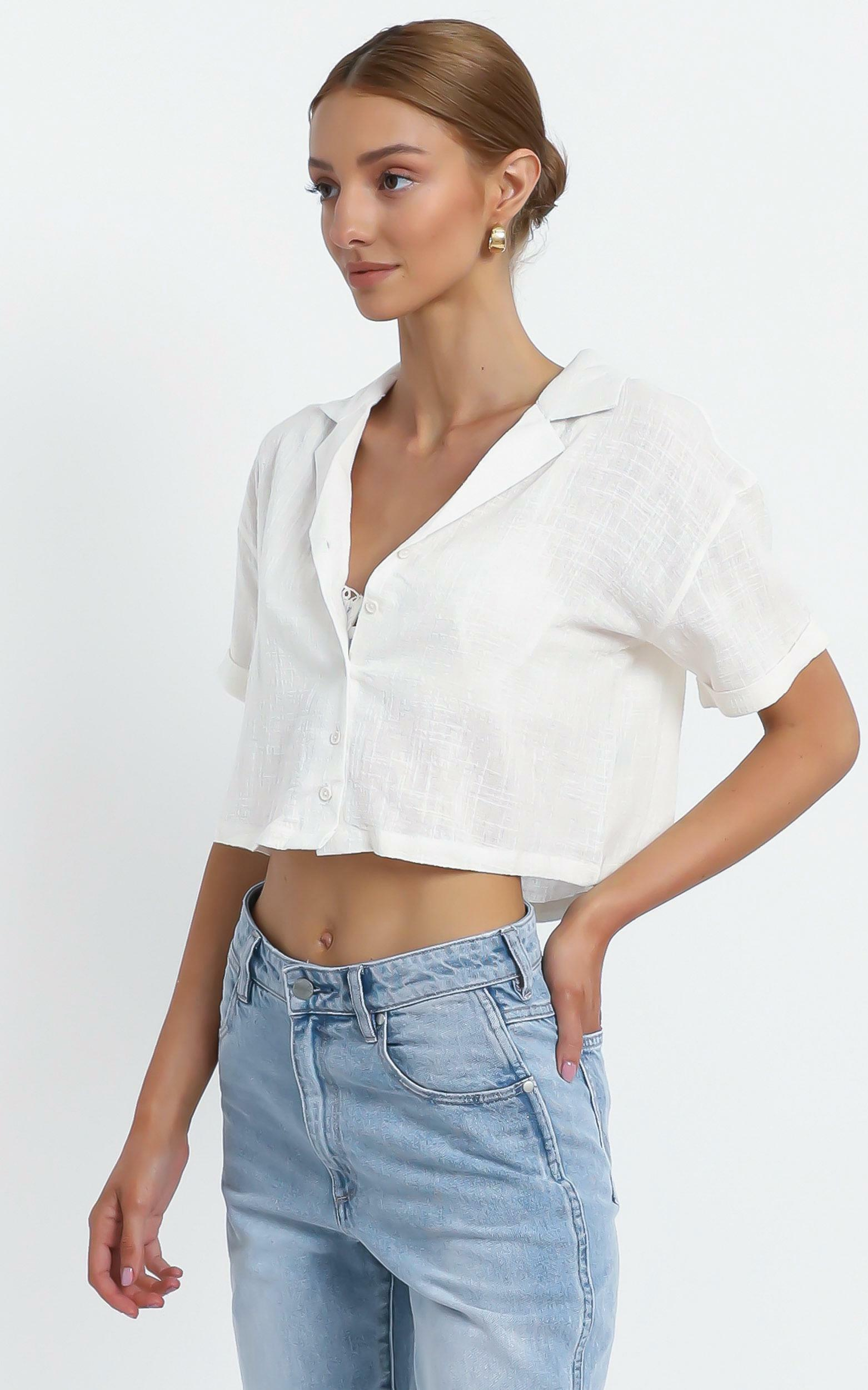 Clea Top in White - 14 (XL), White, hi-res image number null