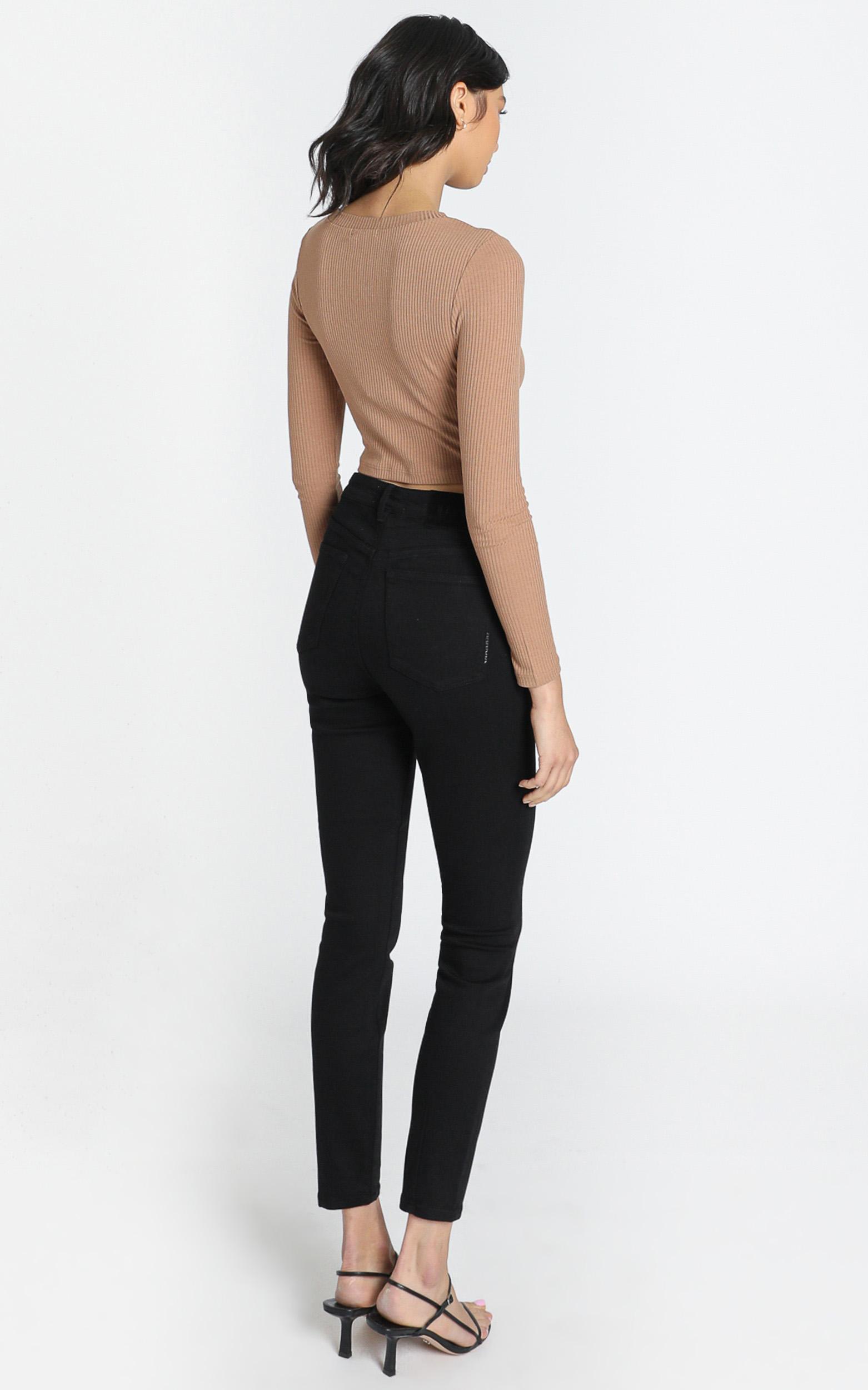 Neuw - Marilyn Skinny in Blackest Silk - 24, Black, hi-res image number null