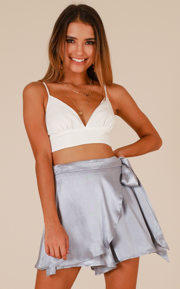 Soft Kiss skort in pale blue - 12 (L), Blue, hi-res image number null