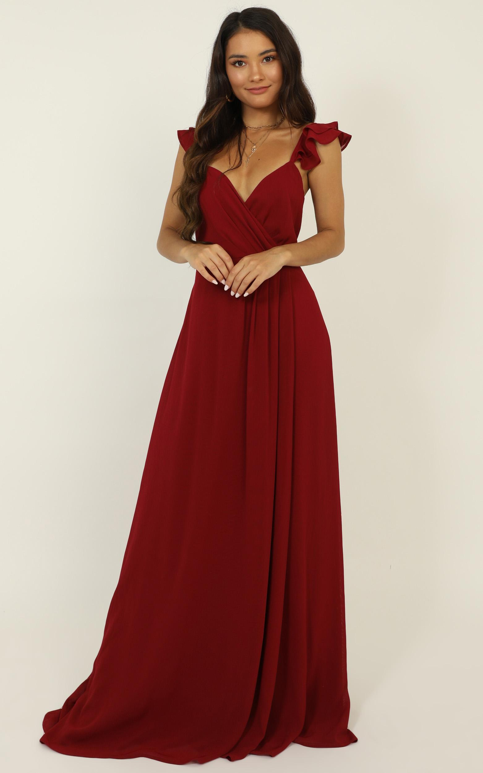 Wrap Your Troubles In Dreams dress in wine - 20 (XXXXL), Wine, hi-res image number null