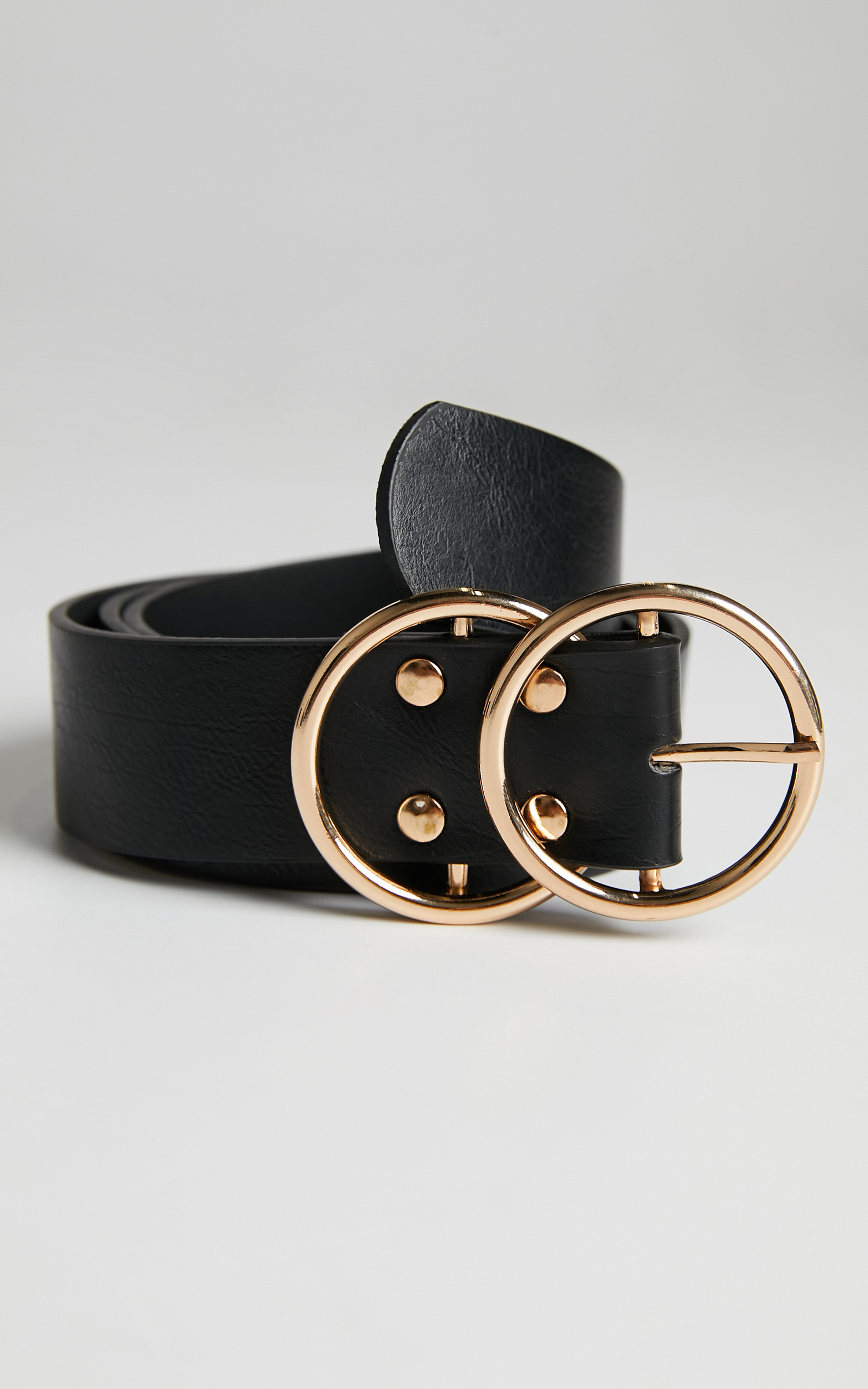 Midnight Charm Belt in Black And Gold Croc, BLK1, hi-res image number null