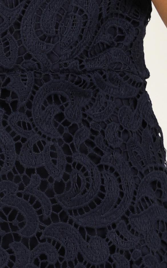 Sea Force dress in navy lace - 14 (XL), Navy, hi-res image number null