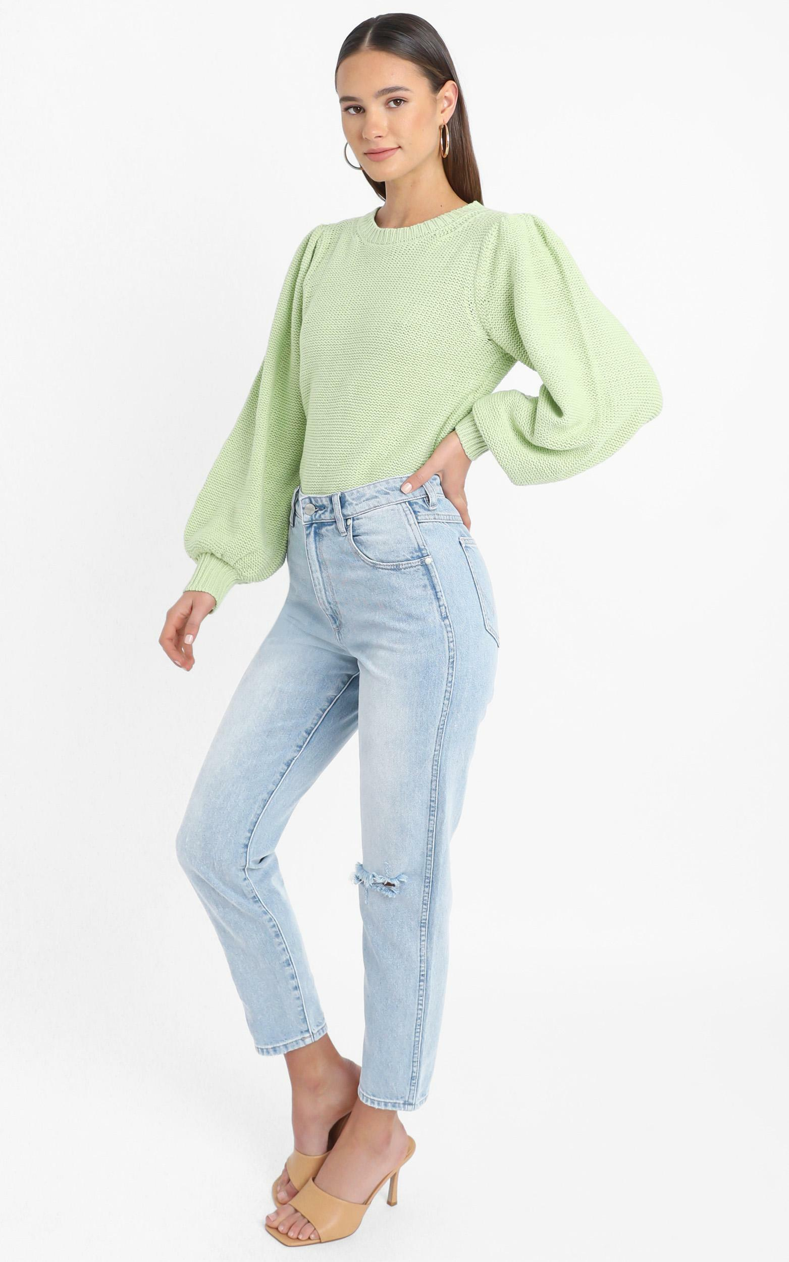 Safia Knit Jumper in Green - 12 (L), Green, hi-res image number null