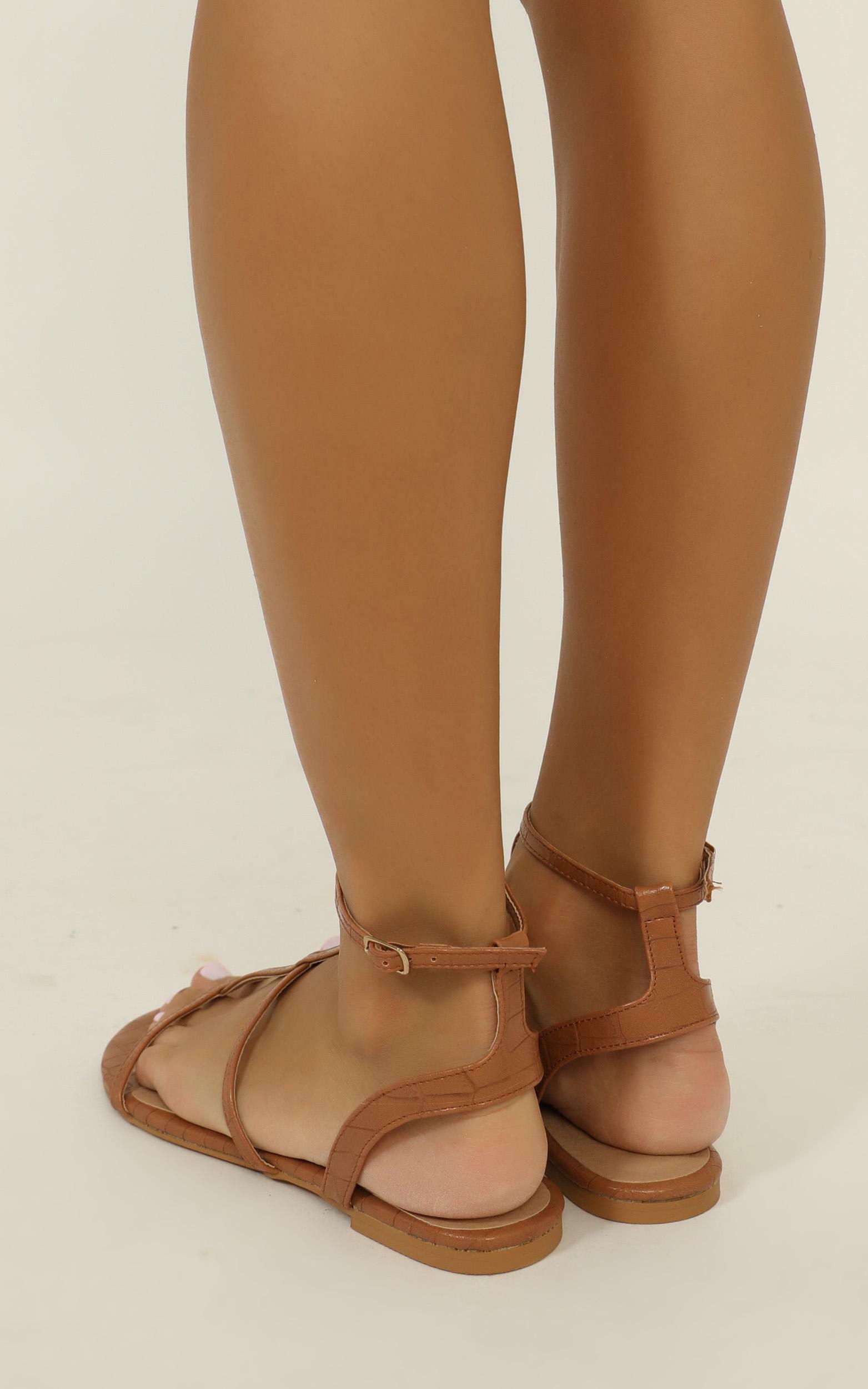 Billini - Dree Sandals in tan croc - 10, Tan, hi-res image number null