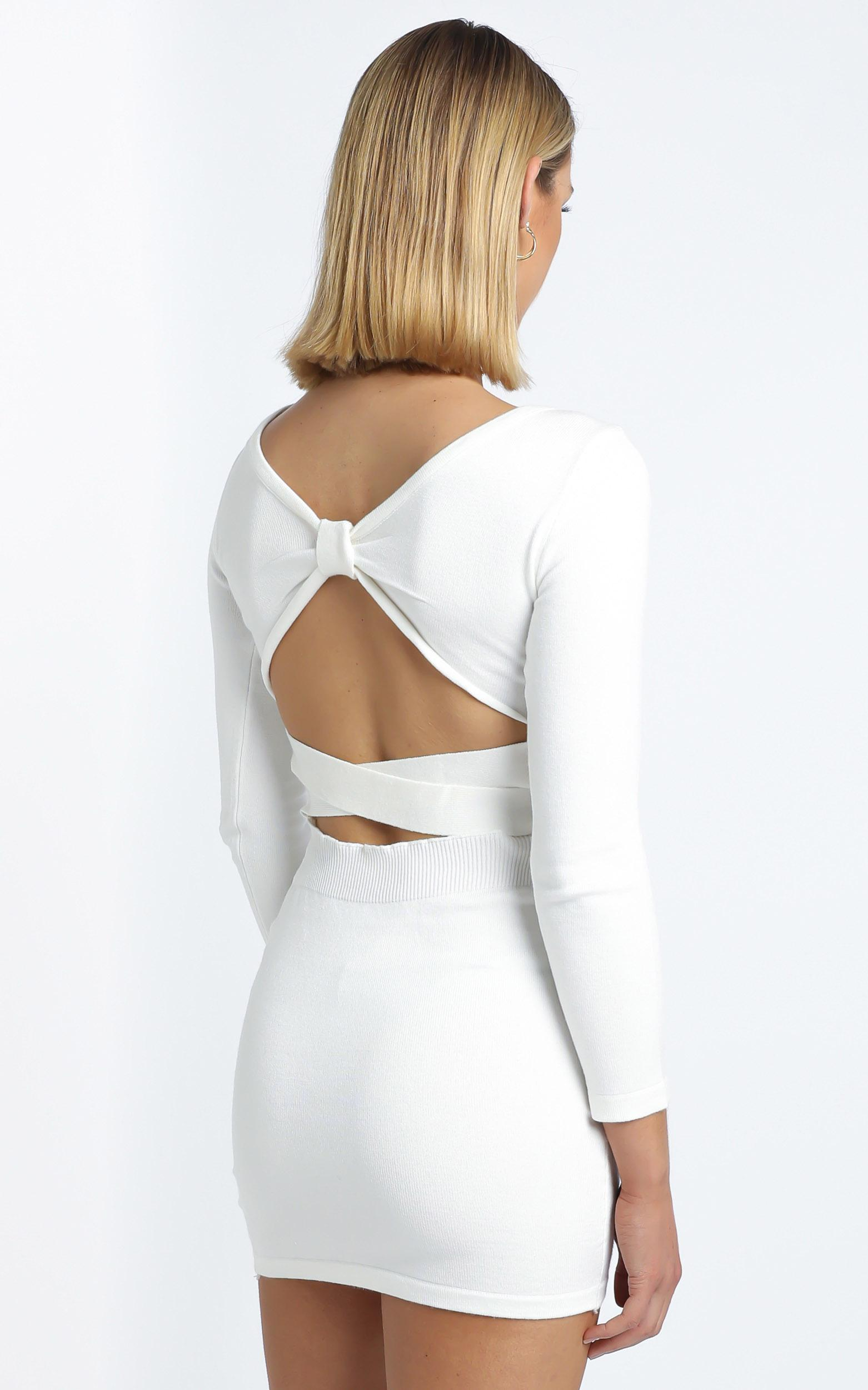 Sonya Knit Dress in White - 12 (L), White, hi-res image number null