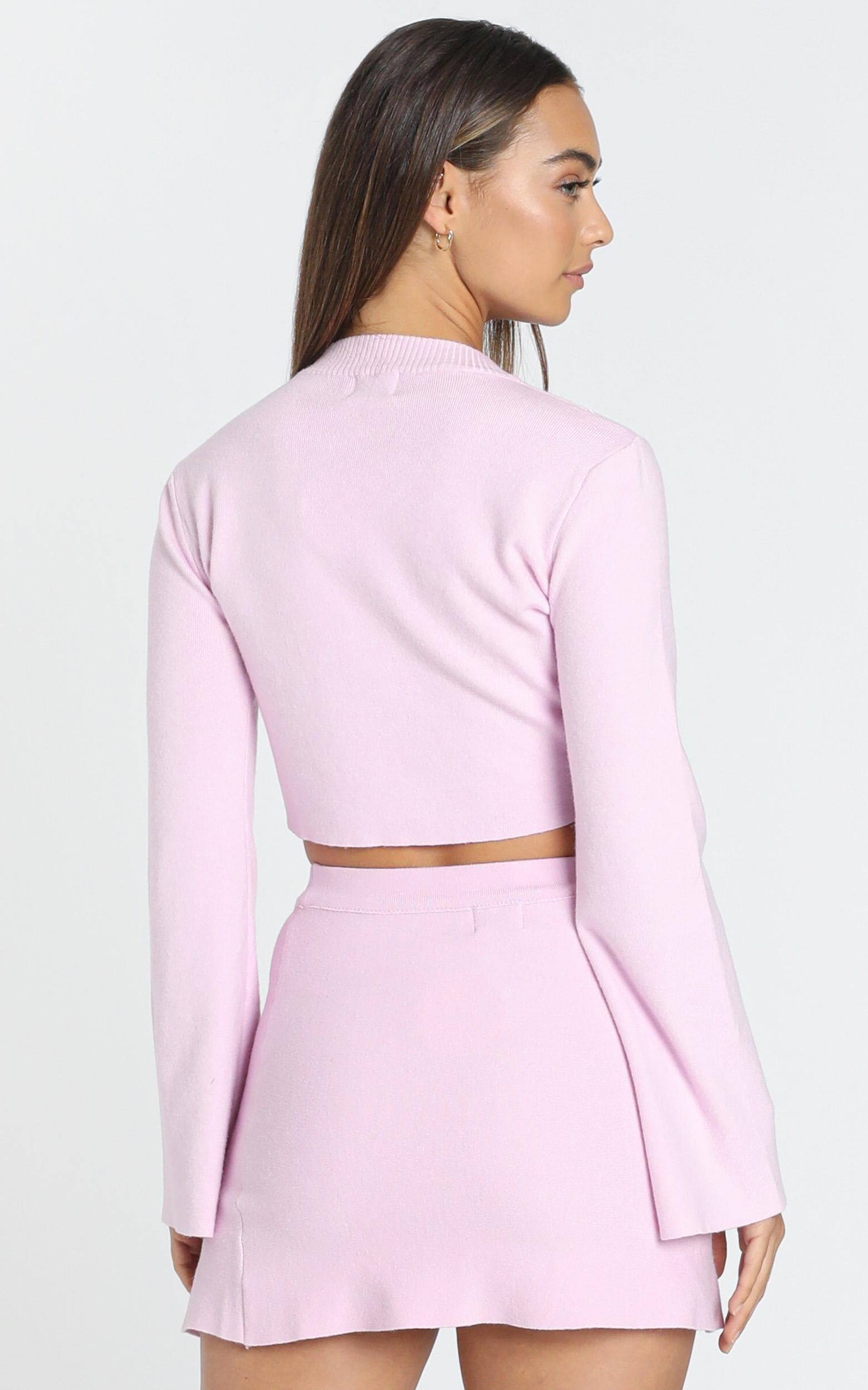 Kiley Knit Skirt in Pink - 6 (XS), Pink, hi-res image number null