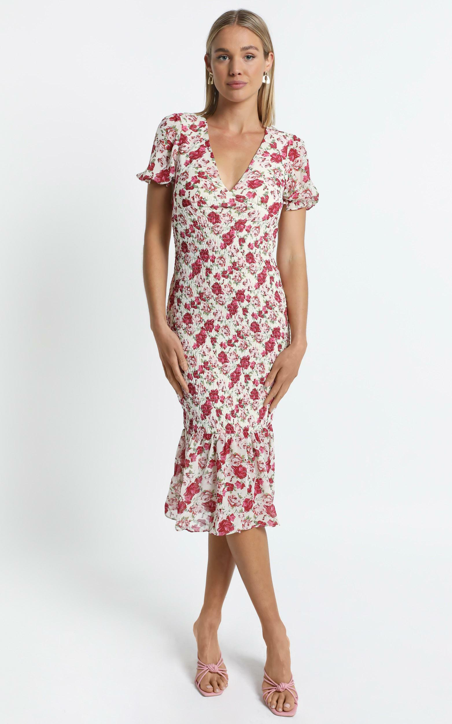 Canterbury Dress in Pink Floral - 6 (XS), Pink, hi-res image number null