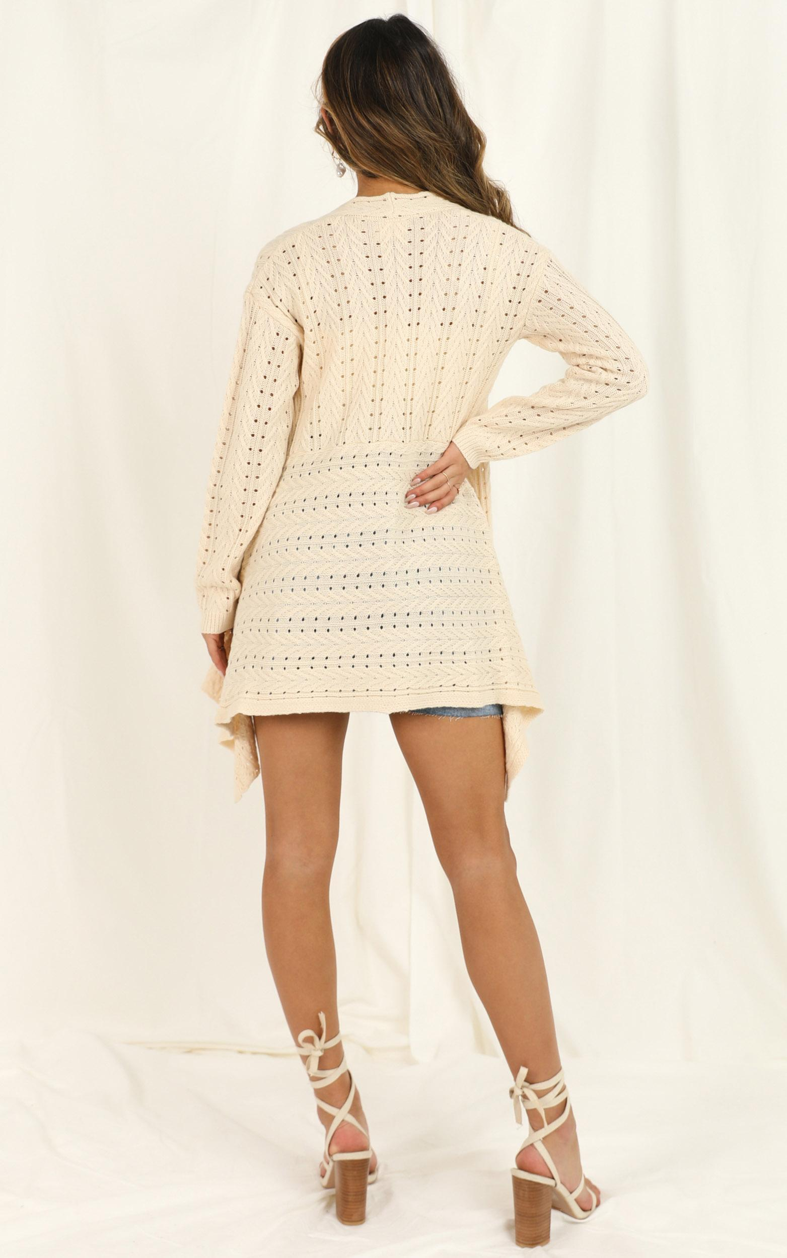 Fake Smiles Cardi in cream - 18 (XXXL), Cream, hi-res image number null