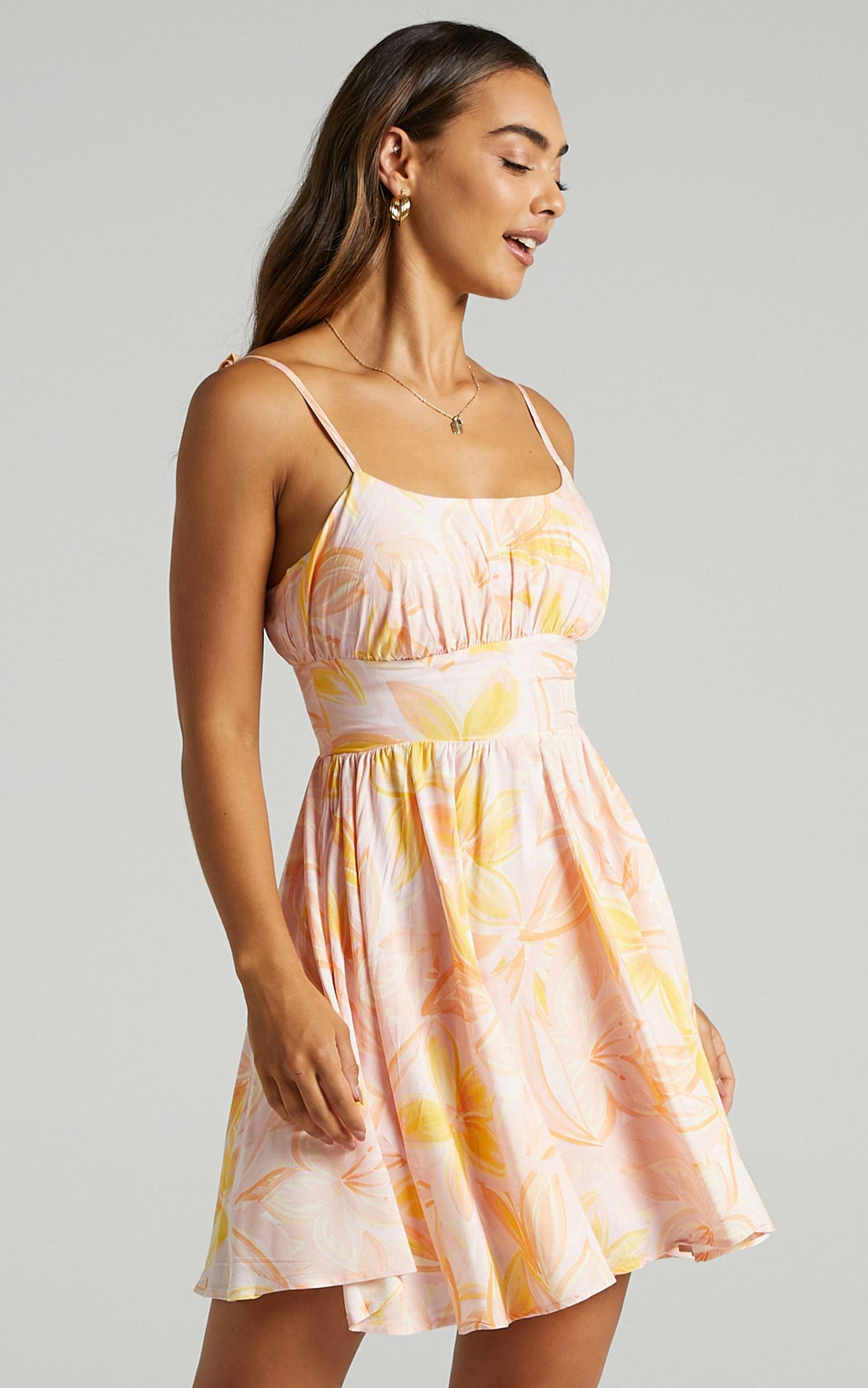 Summer Jam Dress in Summer Floral - 6 (XS), Pink, hi-res image number null