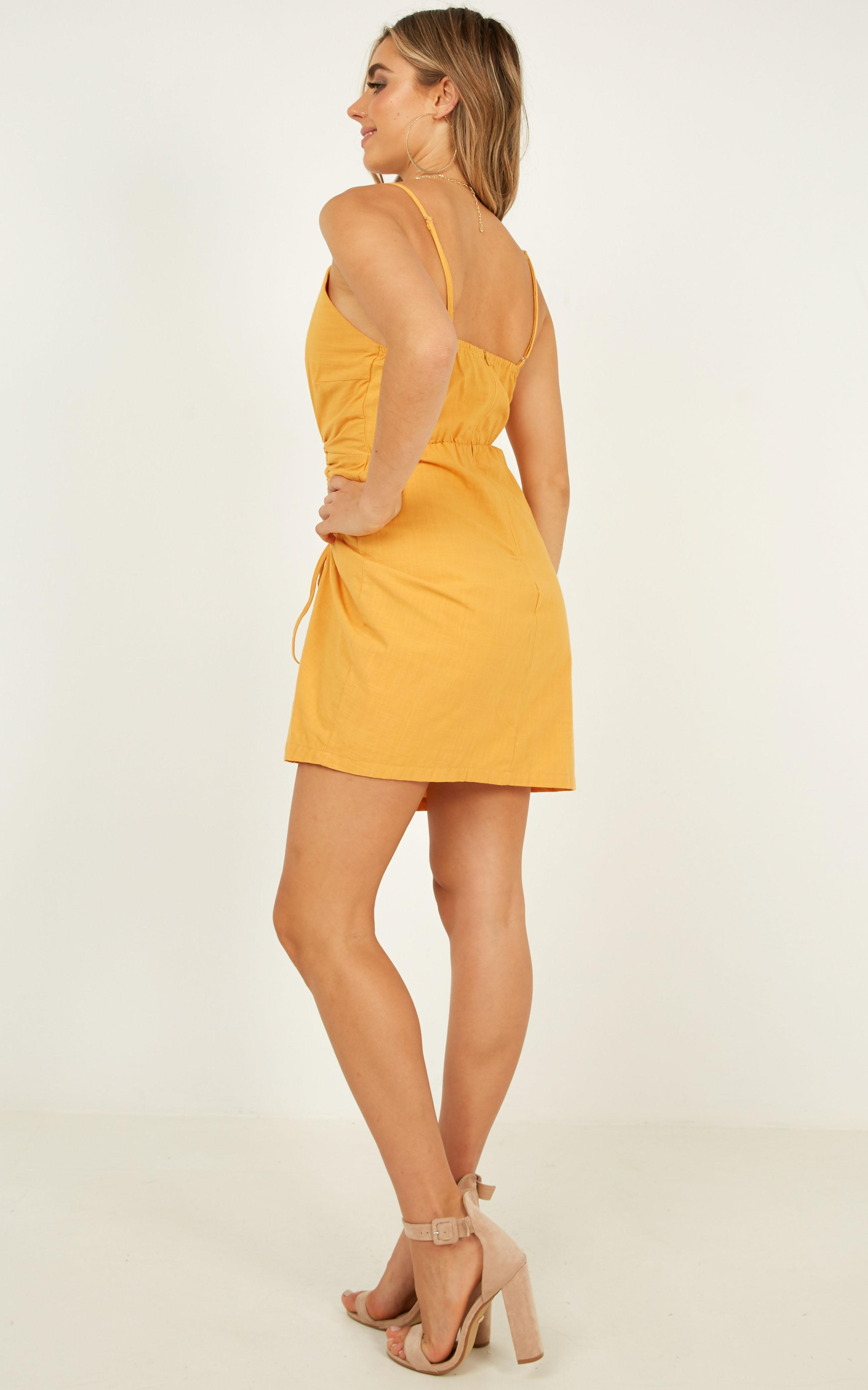 Alone Together dress in mustard - 12 (L), Mustard, hi-res image number null