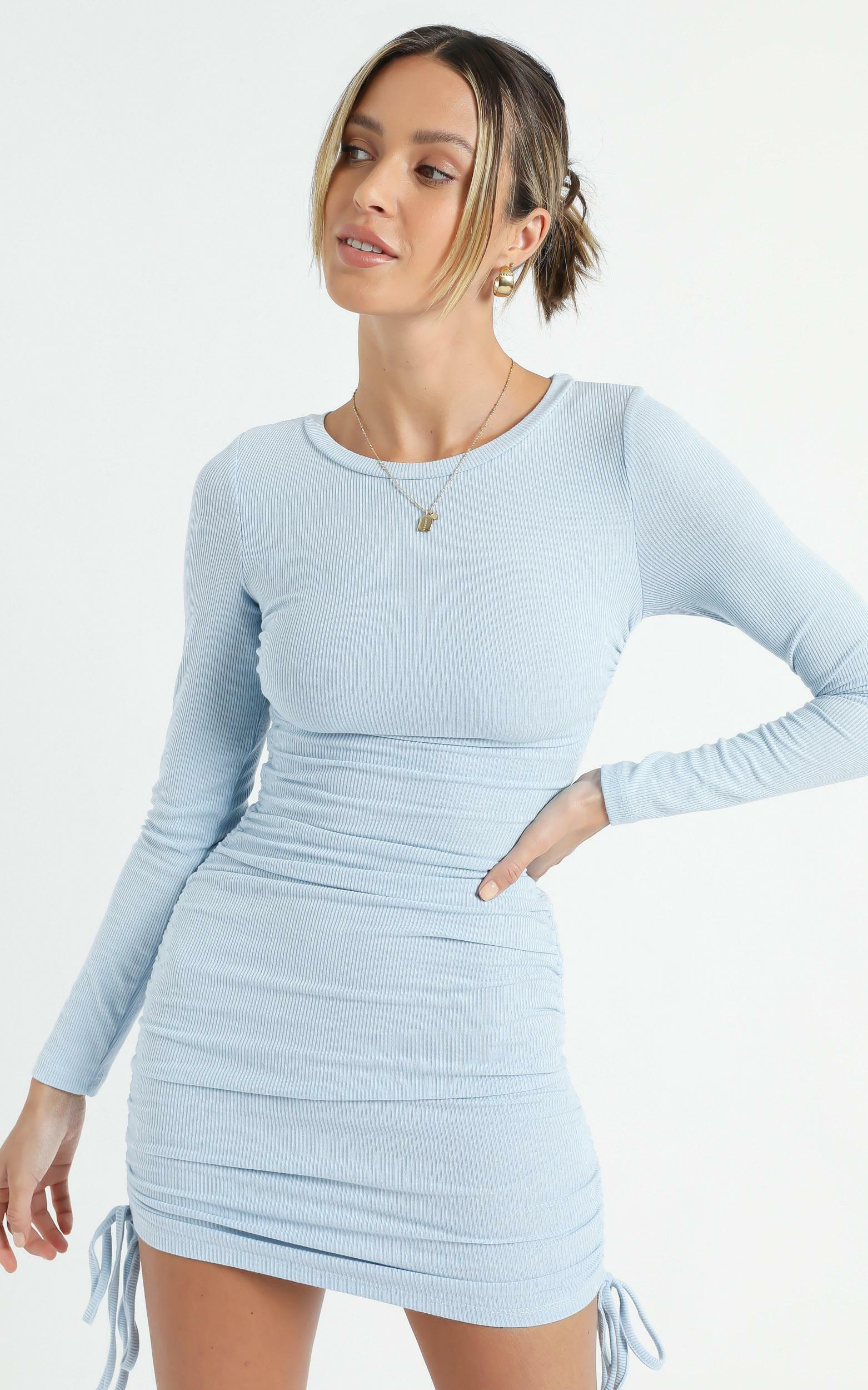 Whitmore Dress in Blue - 14 (XL), Blue, hi-res image number null