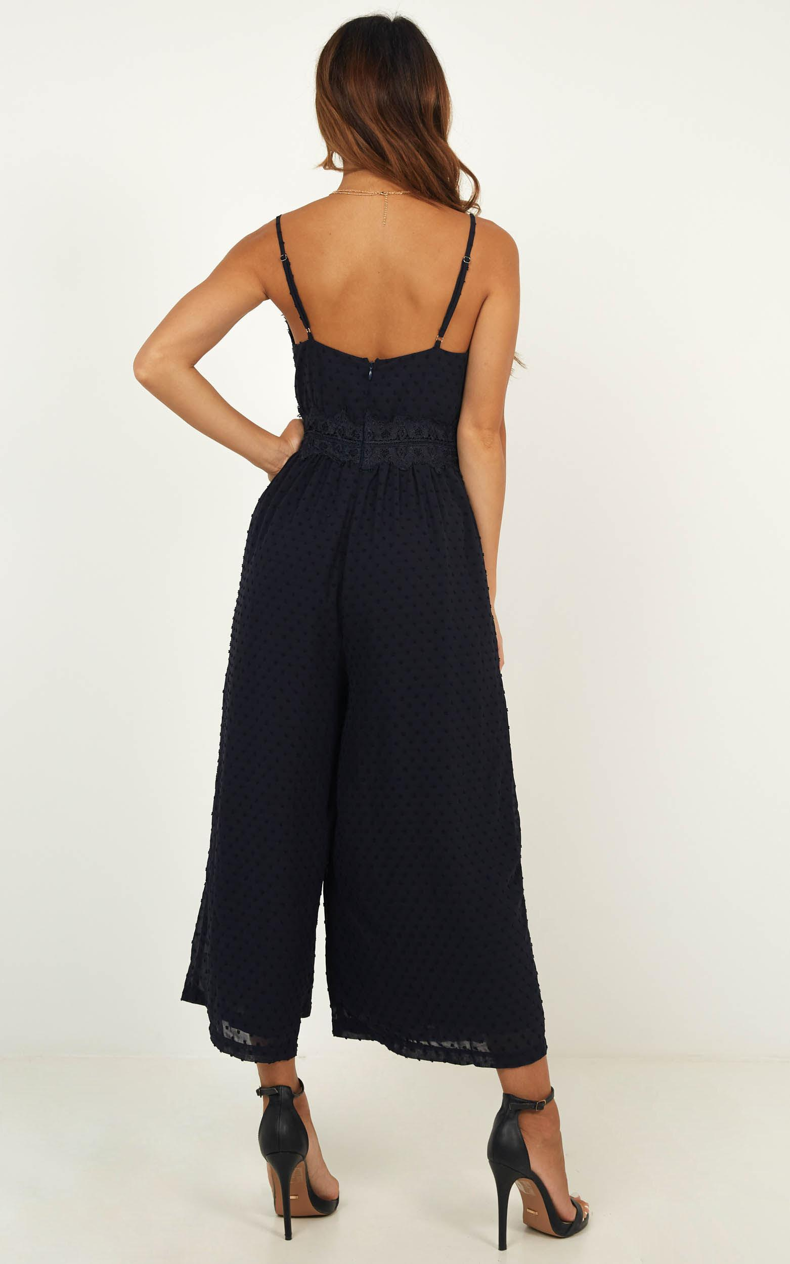 We Could Be Friends Jumpsuit In Navy - 4 (XXS), Navy, hi-res image number null