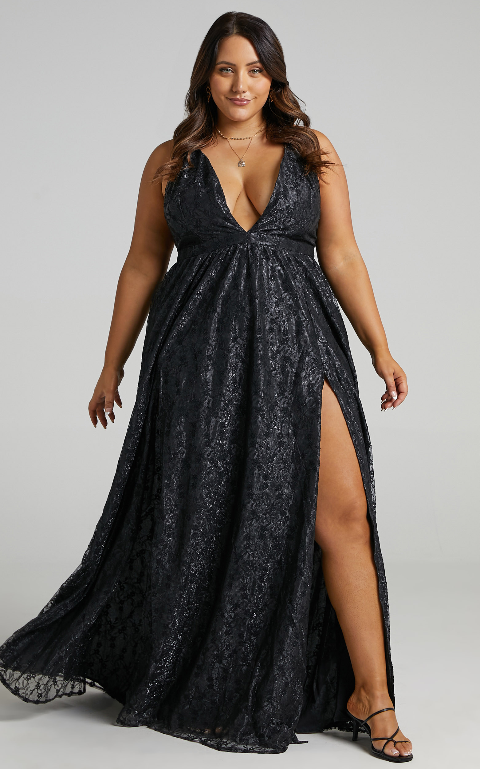 See Some Places Dress in Black Lace - 20, BLK1, hi-res image number null