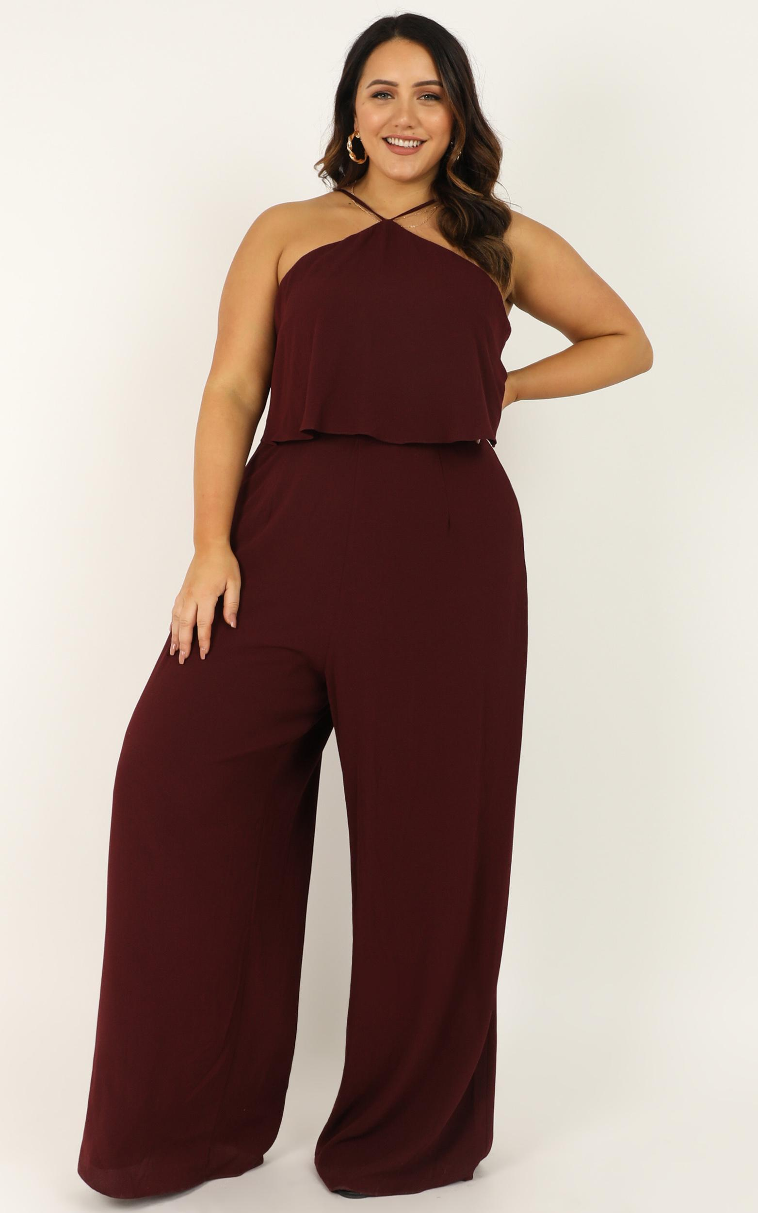 See You Run Jumpsuit in wine - 20 (XXXXL), Wine, hi-res image number null