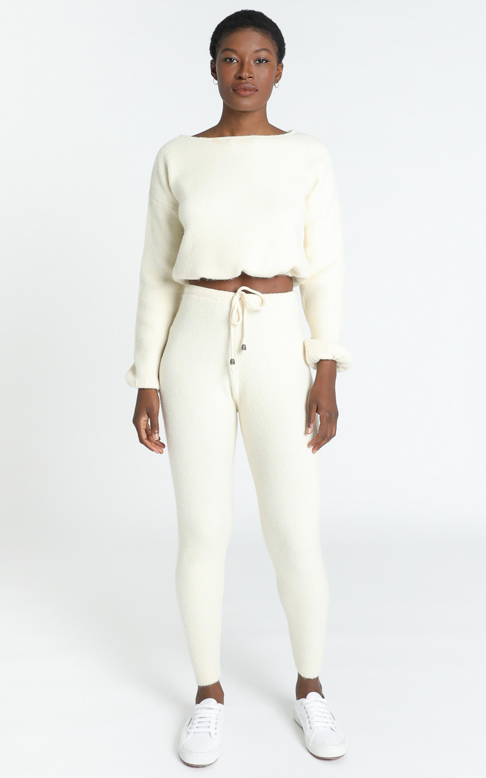 Emberly Two Piece Knit Set in Cream - 8 (S), Cream, hi-res image number null