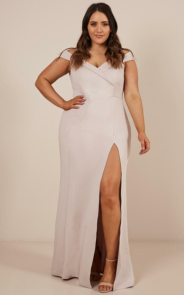 One For The Money dress in stone - 20 (XXXXL), Grey, hi-res image number null