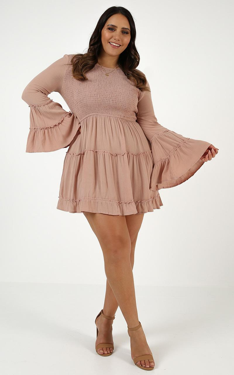 Ask Me Later Dress in mocha - 20 (XXXXL), Mocha, hi-res image number null