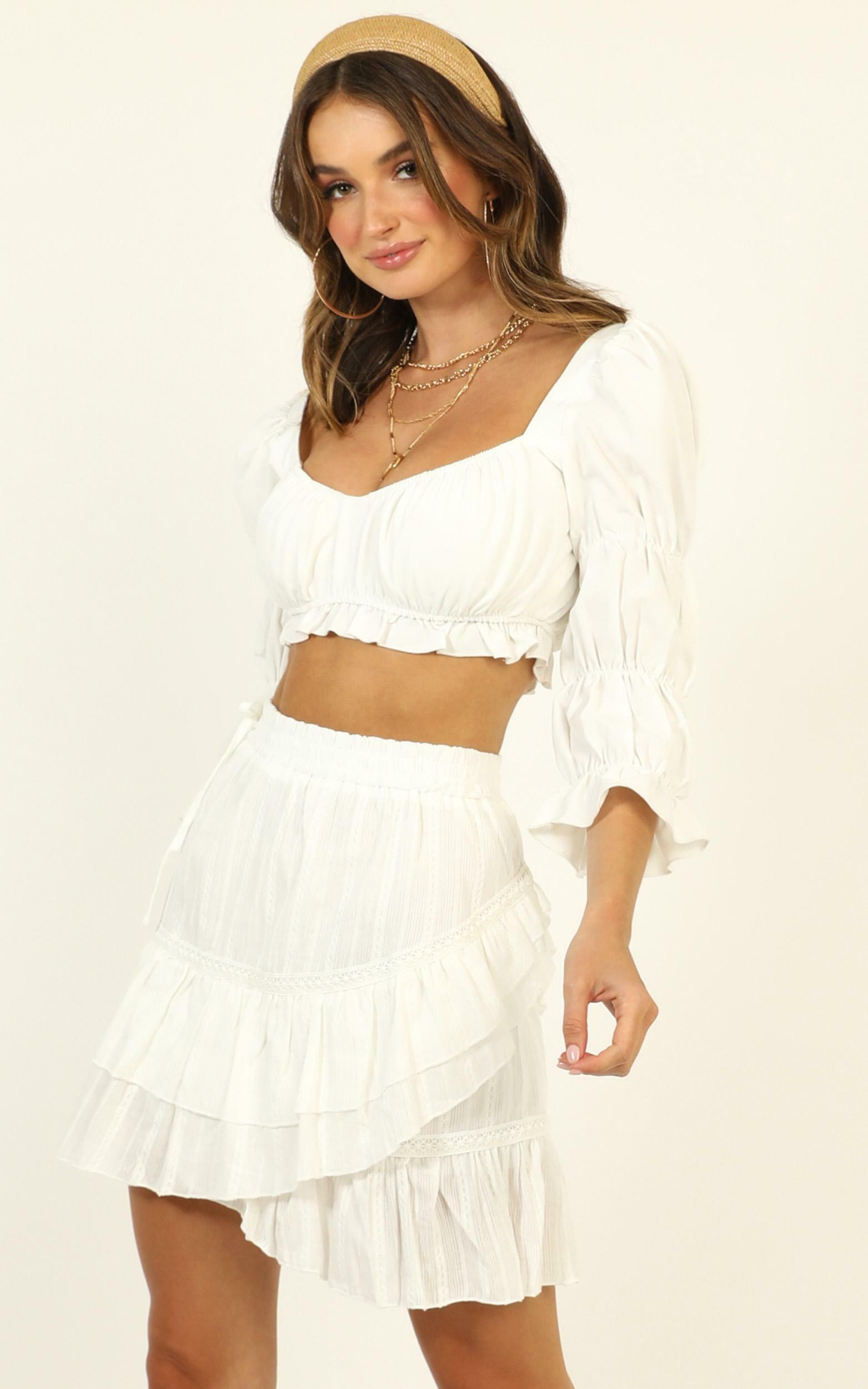 Ease My Mind skirt in white - 12 (L), White, hi-res image number null