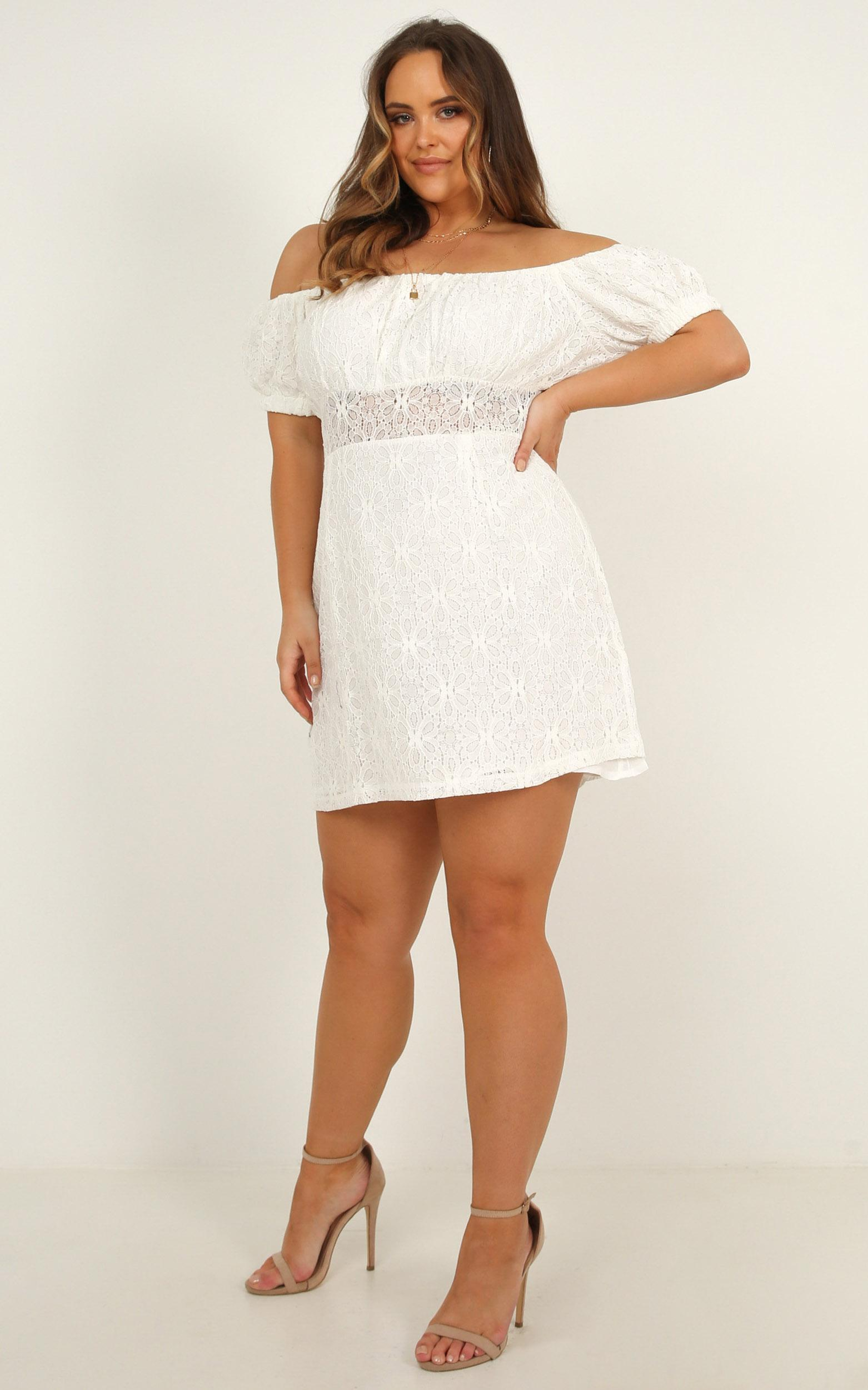 All My Girls Dress In white lace - 16 (XXL), White, hi-res image number null