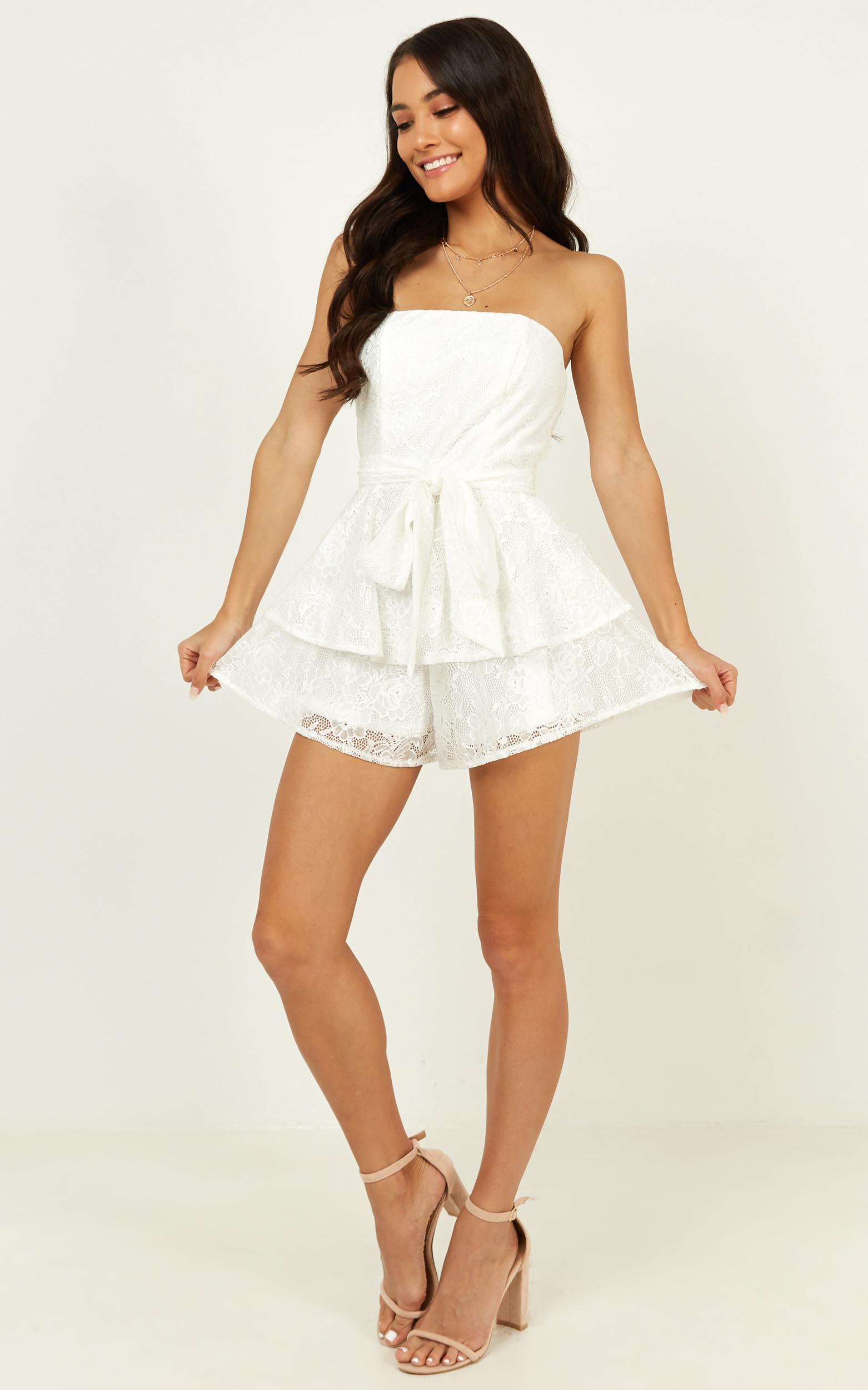 I Never Knew Love Playsuit in white lace - 20 (XXXXL), White, hi-res image number null