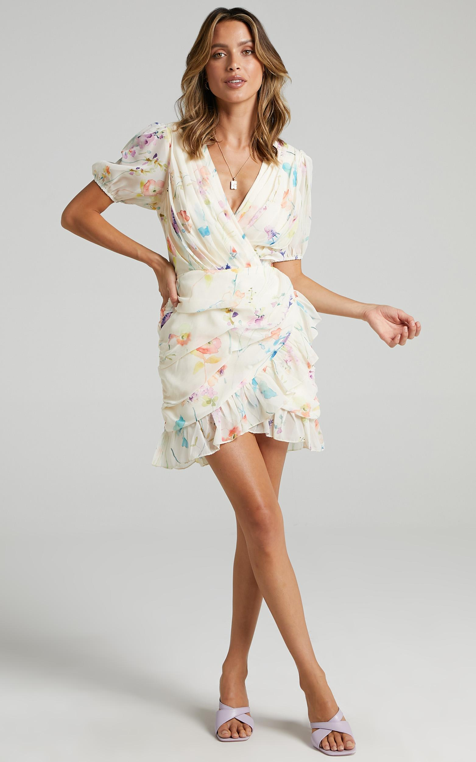 Arwyn Dress in Watercolour Floral - 6 (XS), MLT2, hi-res image number null
