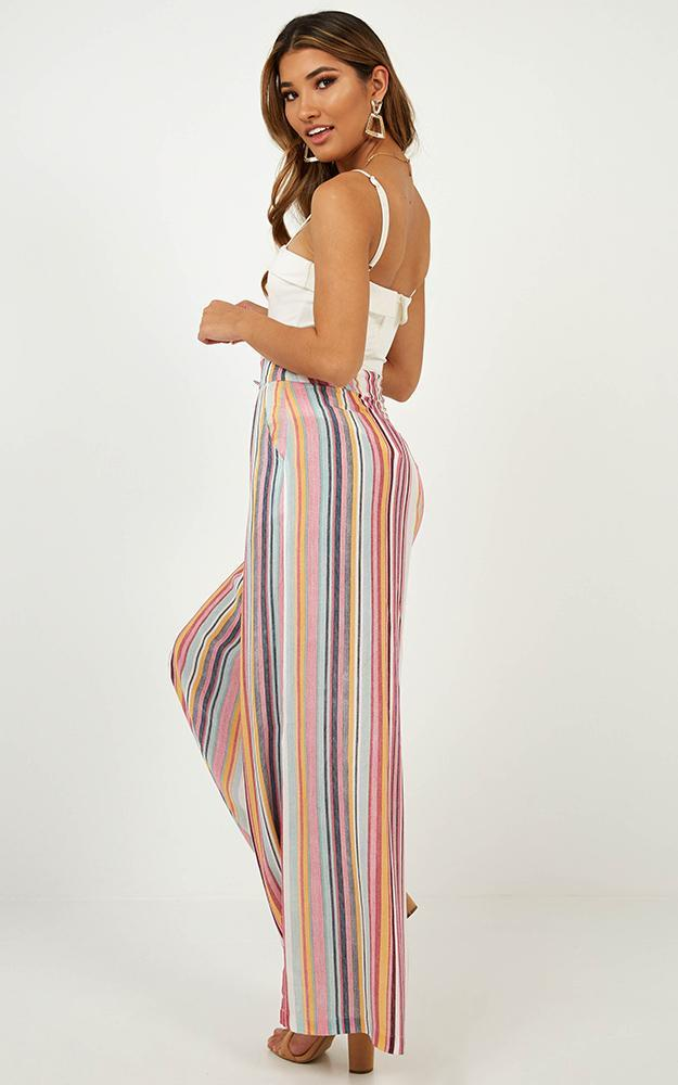 Bewitched Pants in multi stripe - 6 (XS), Pink, hi-res image number null