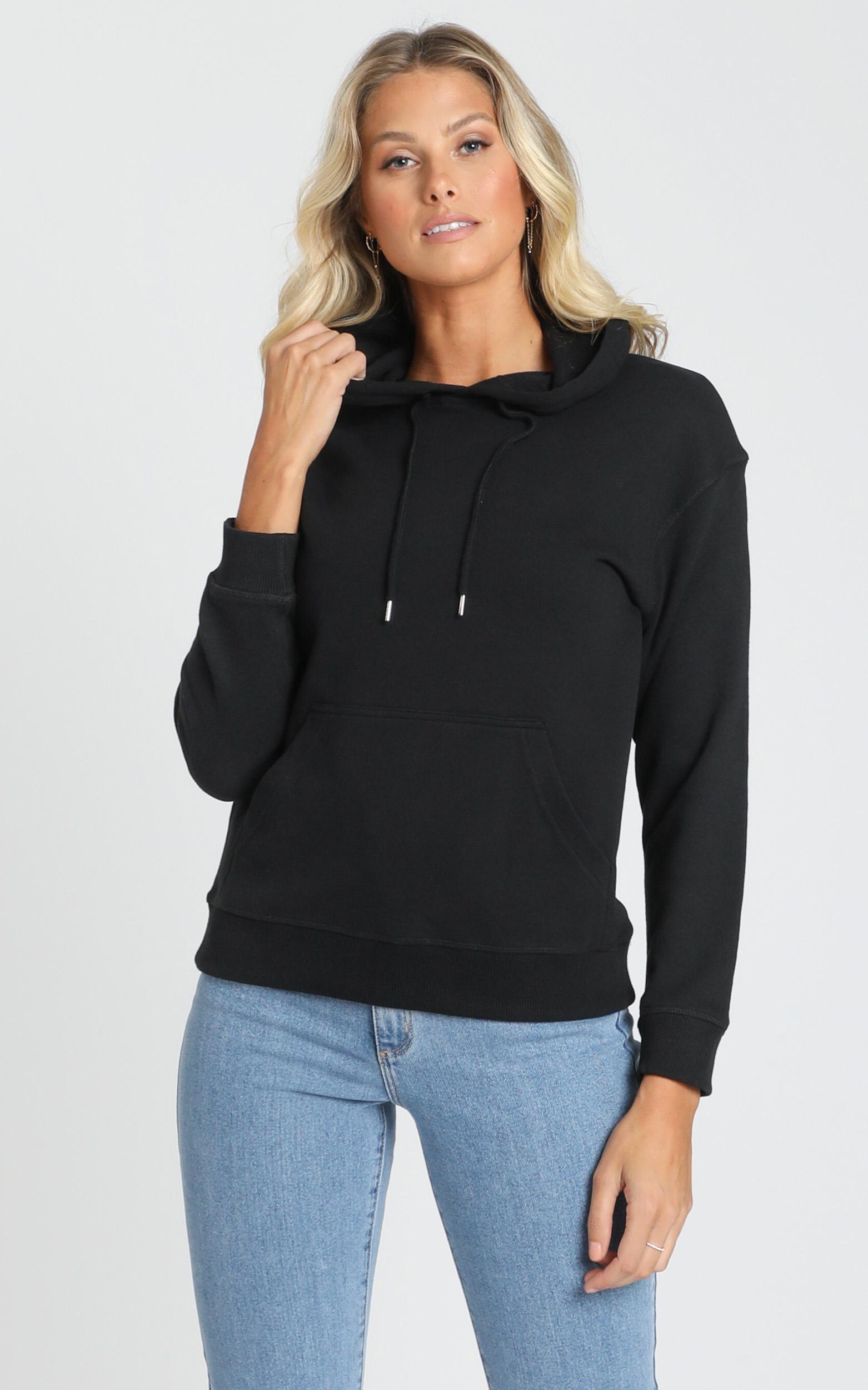 AS Colour - Premium Hood in Black - XS, Black, hi-res image number null