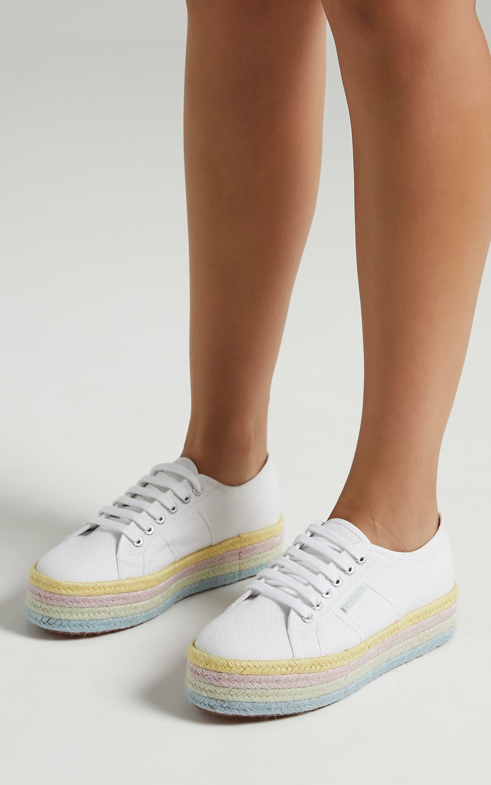 Superga - 2790 COT Color Rope in white - lemonade pale lilac - 5, PRP3, hi-res image number null