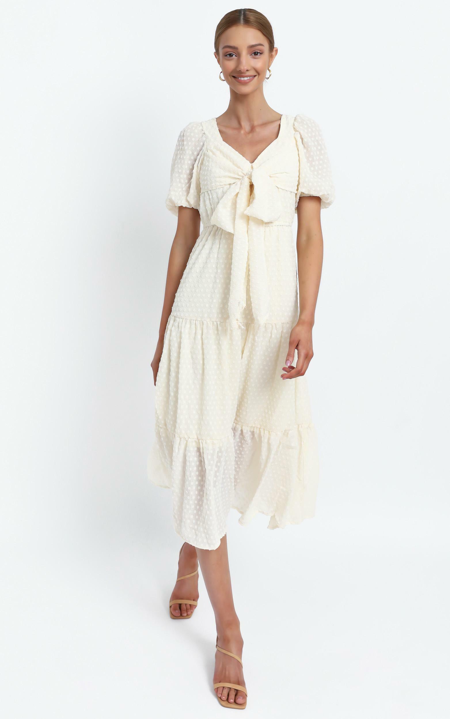 Neive Dress in Cream - 12 (L), Beige, hi-res image number null