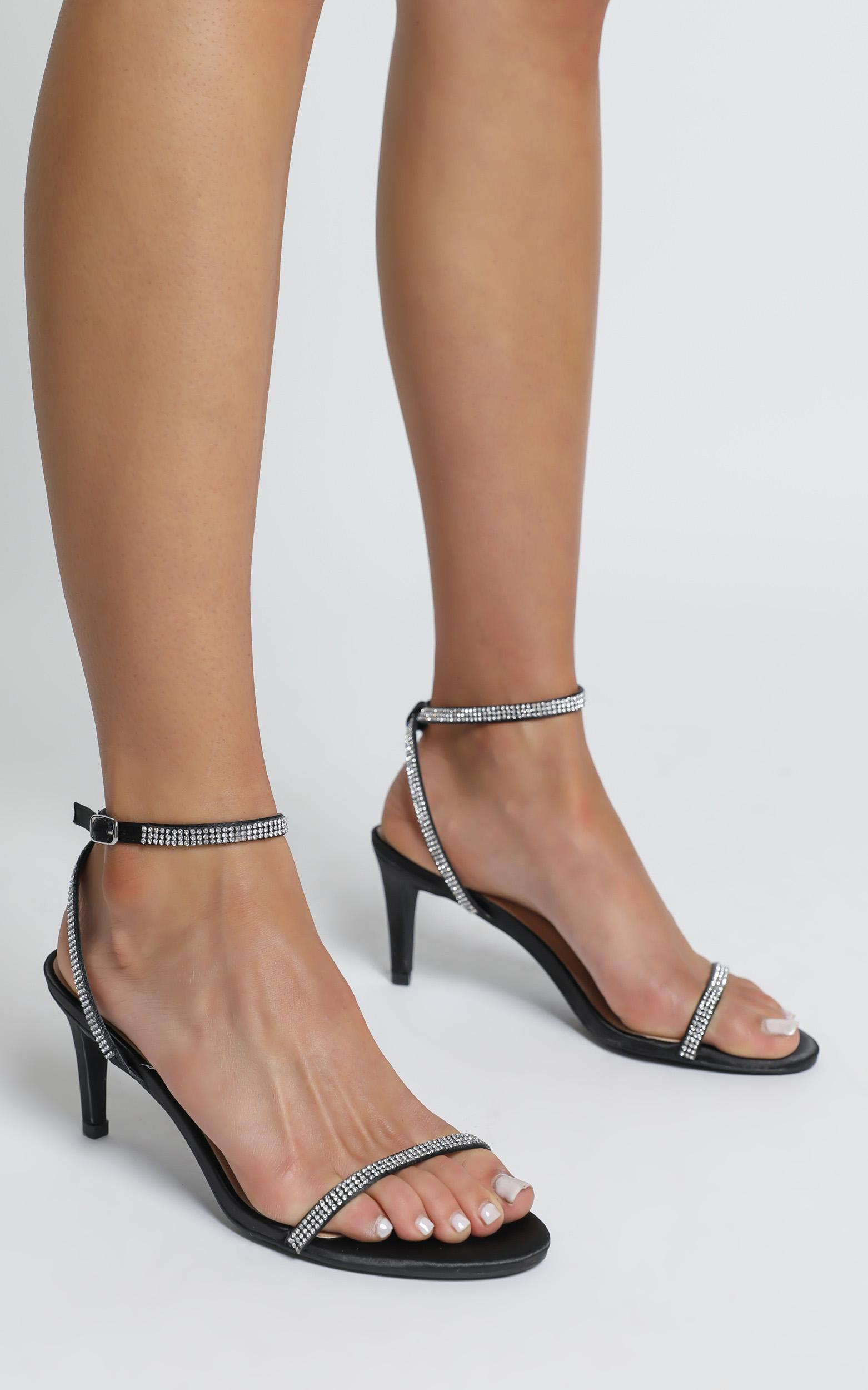 Therapy - Glimmer Heels in Black Suedette - 5, Black, hi-res image number null