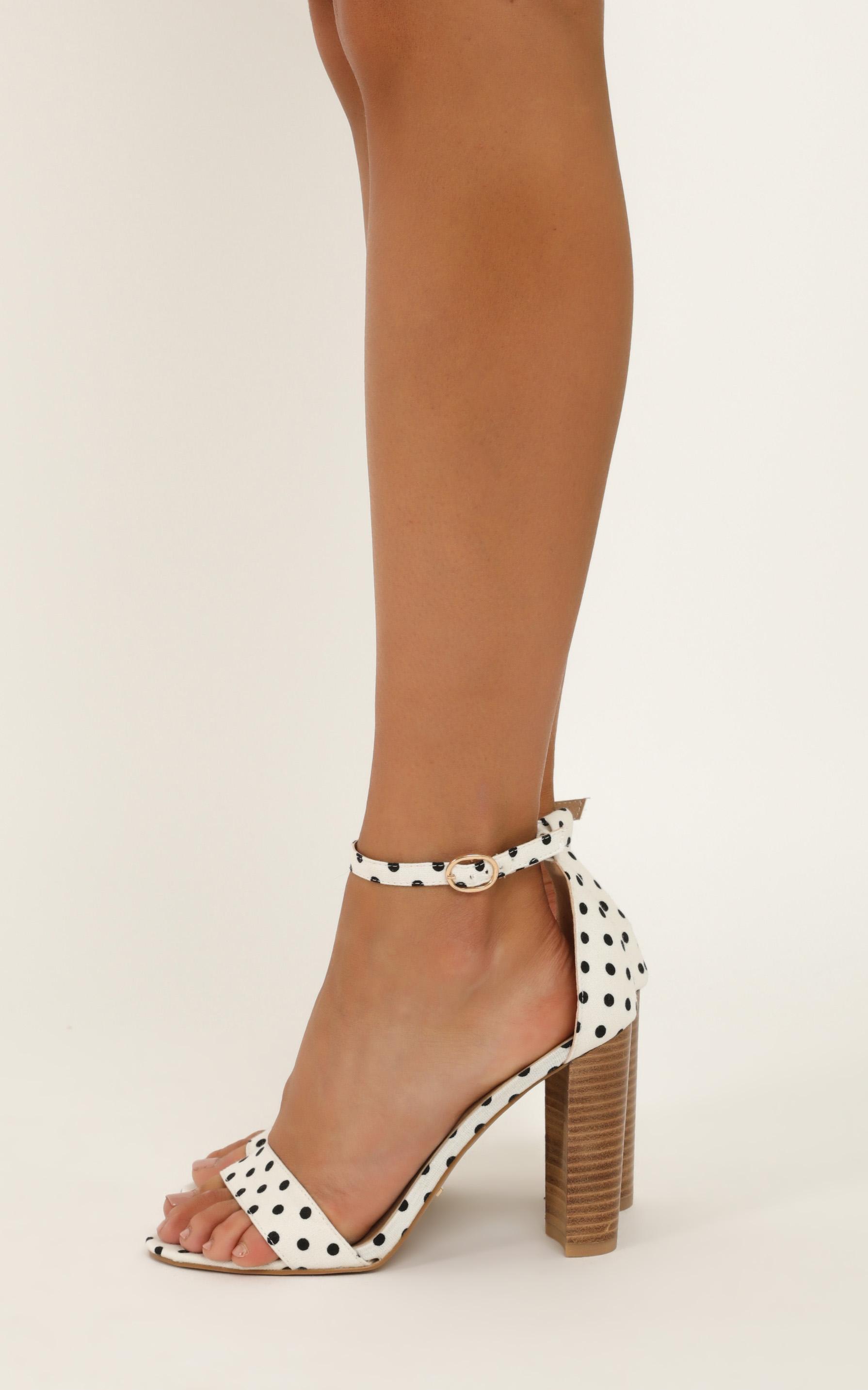 Billini - Jessa heels in white spot - 5, White, hi-res image number null