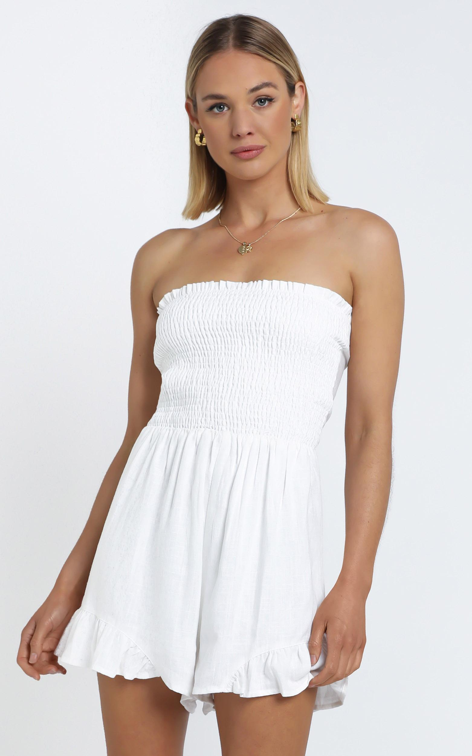 Leo Playsuit in White - 12 (L), White, hi-res image number null