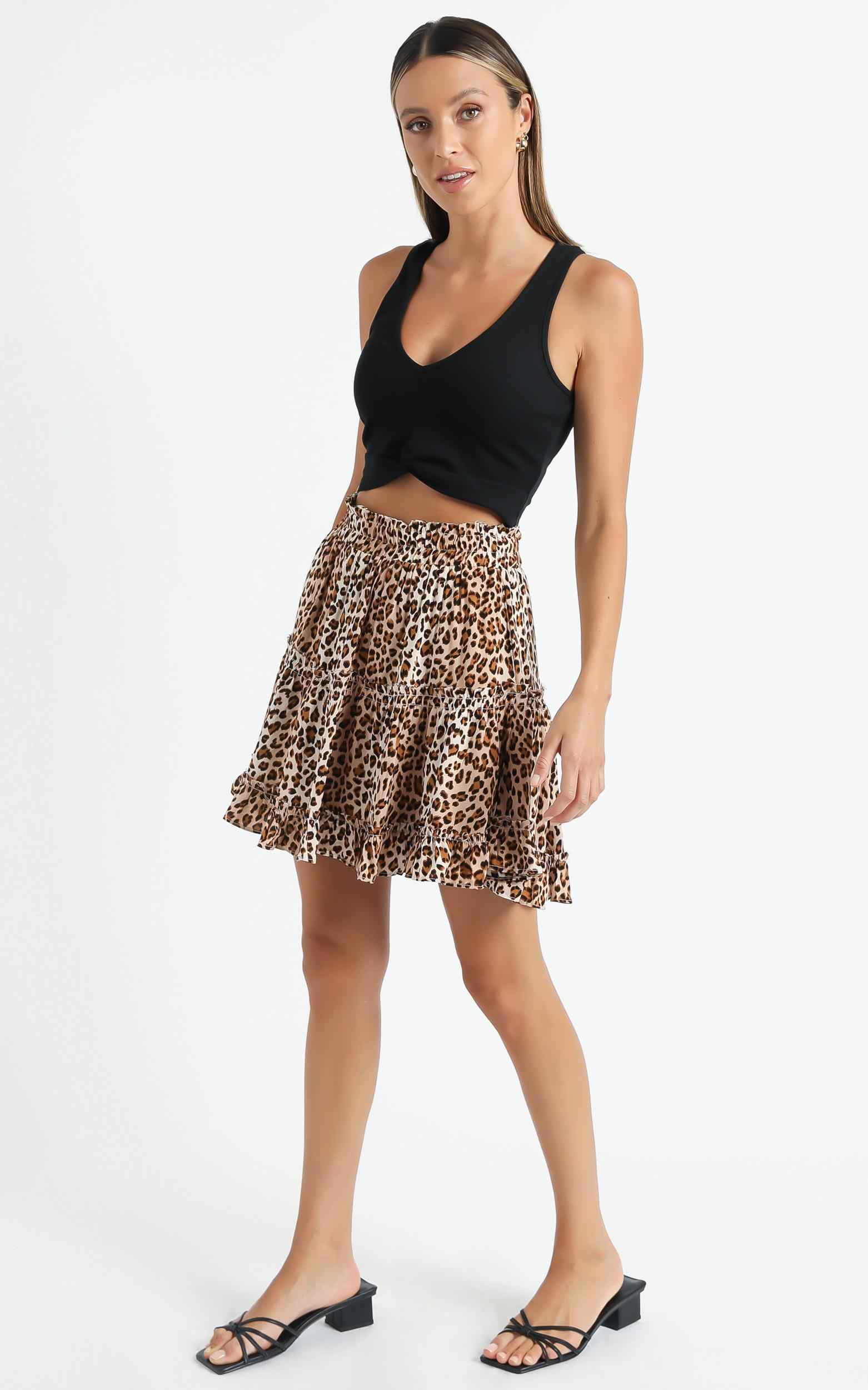 Winslow Skirt in Leopard - 6 (XS), Brown, hi-res image number null