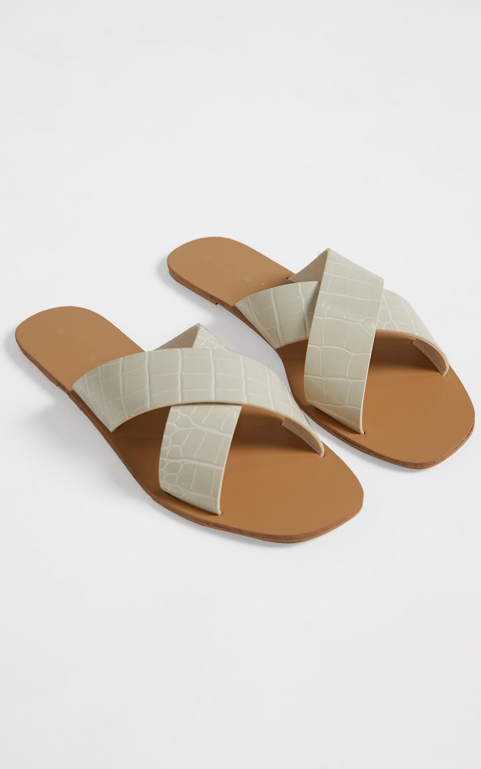 Billini - Hale Sandals in White Croc - 5, White, hi-res image number null