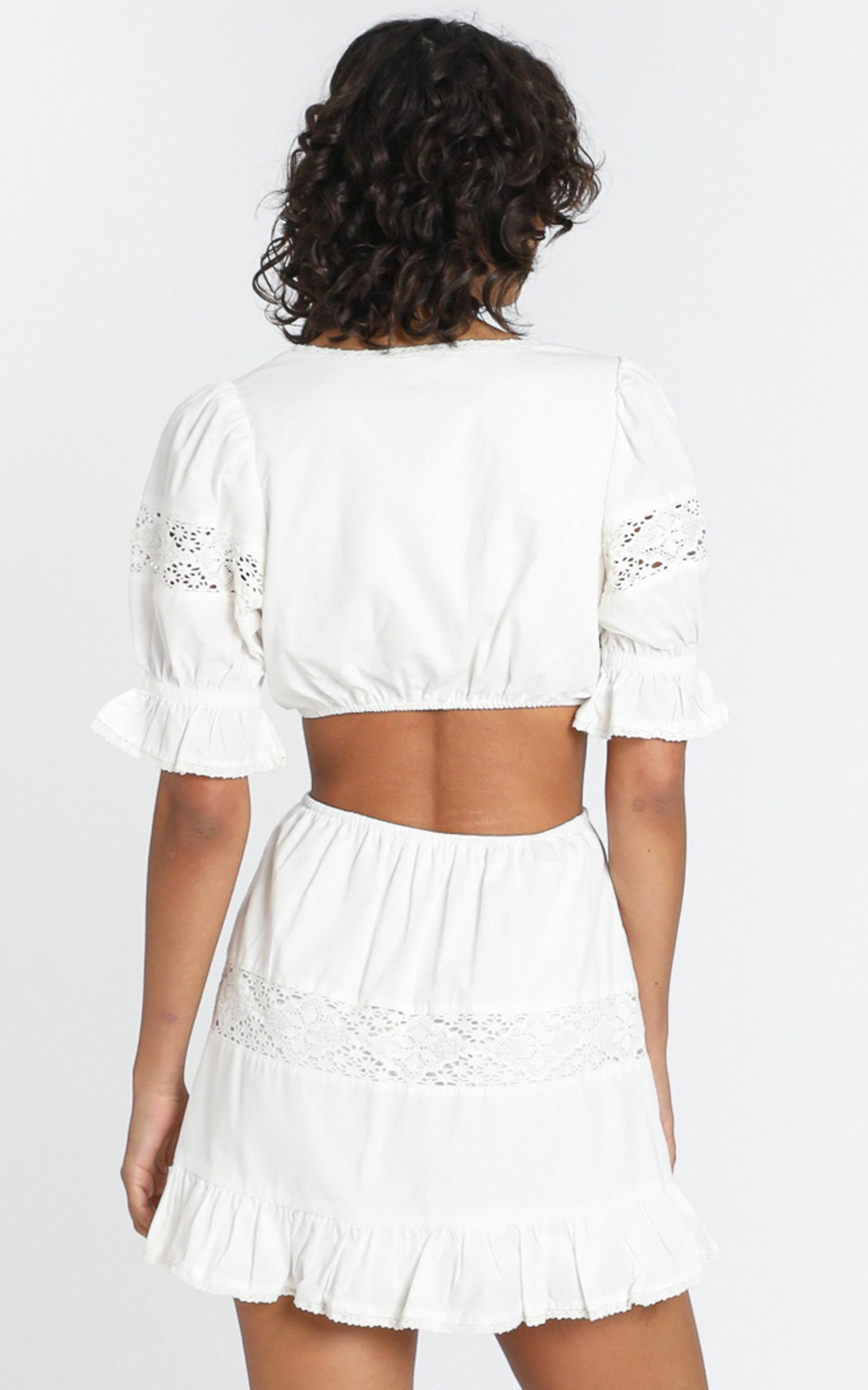 Just Like Paradise Two Piece Set In white linen - 4 (XXS), White, hi-res image number null