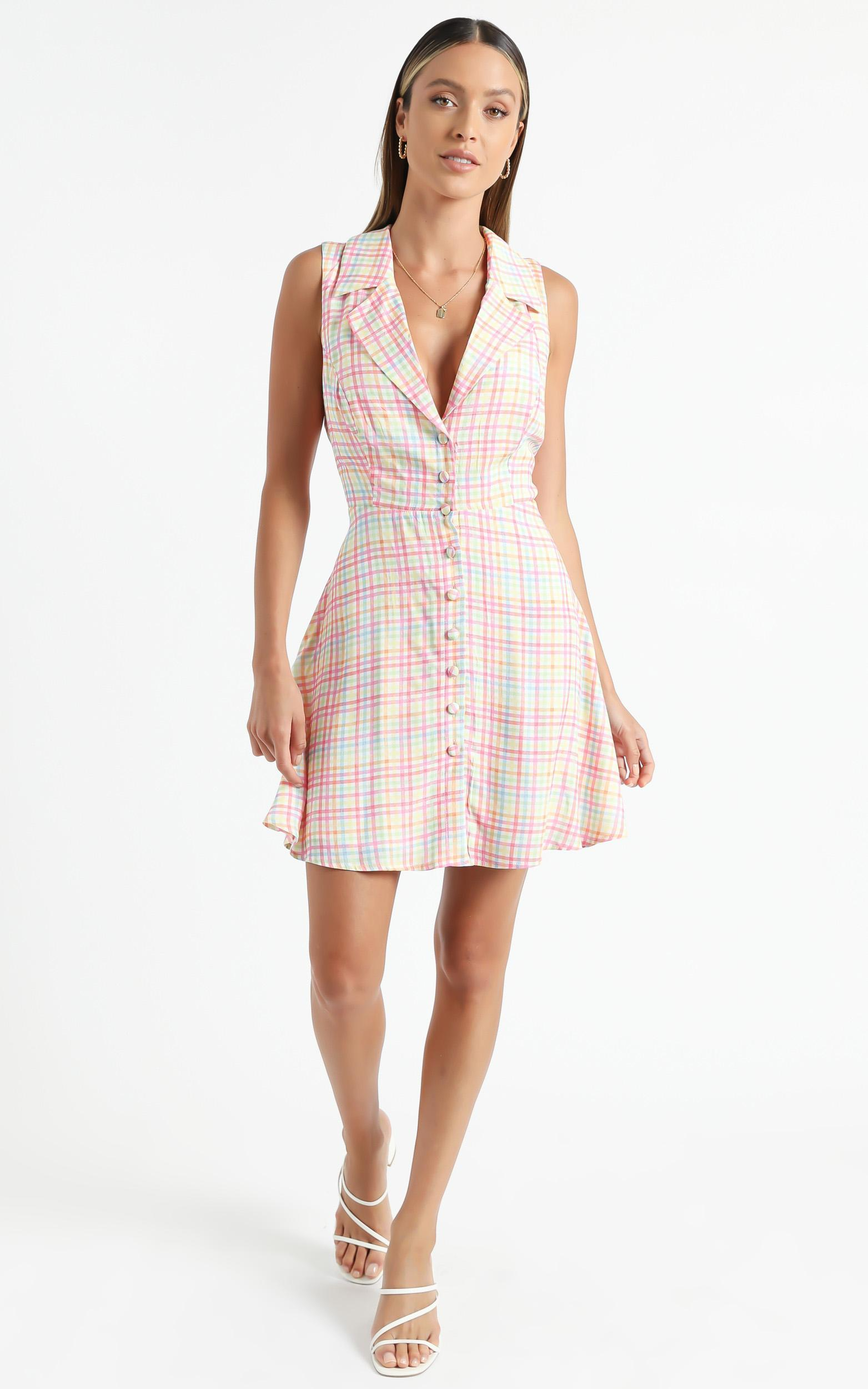 Nimos Dress in Rainbow Check - 6 (XS), Multi, hi-res image number null