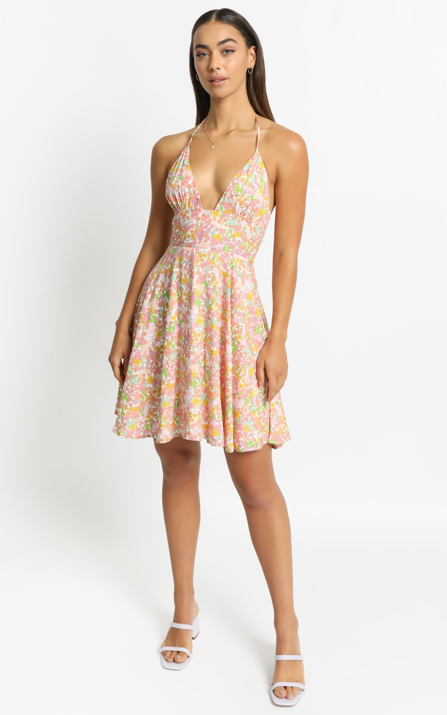 Augustina Dress in Flower Field - 6 (XS), Pink, hi-res image number null
