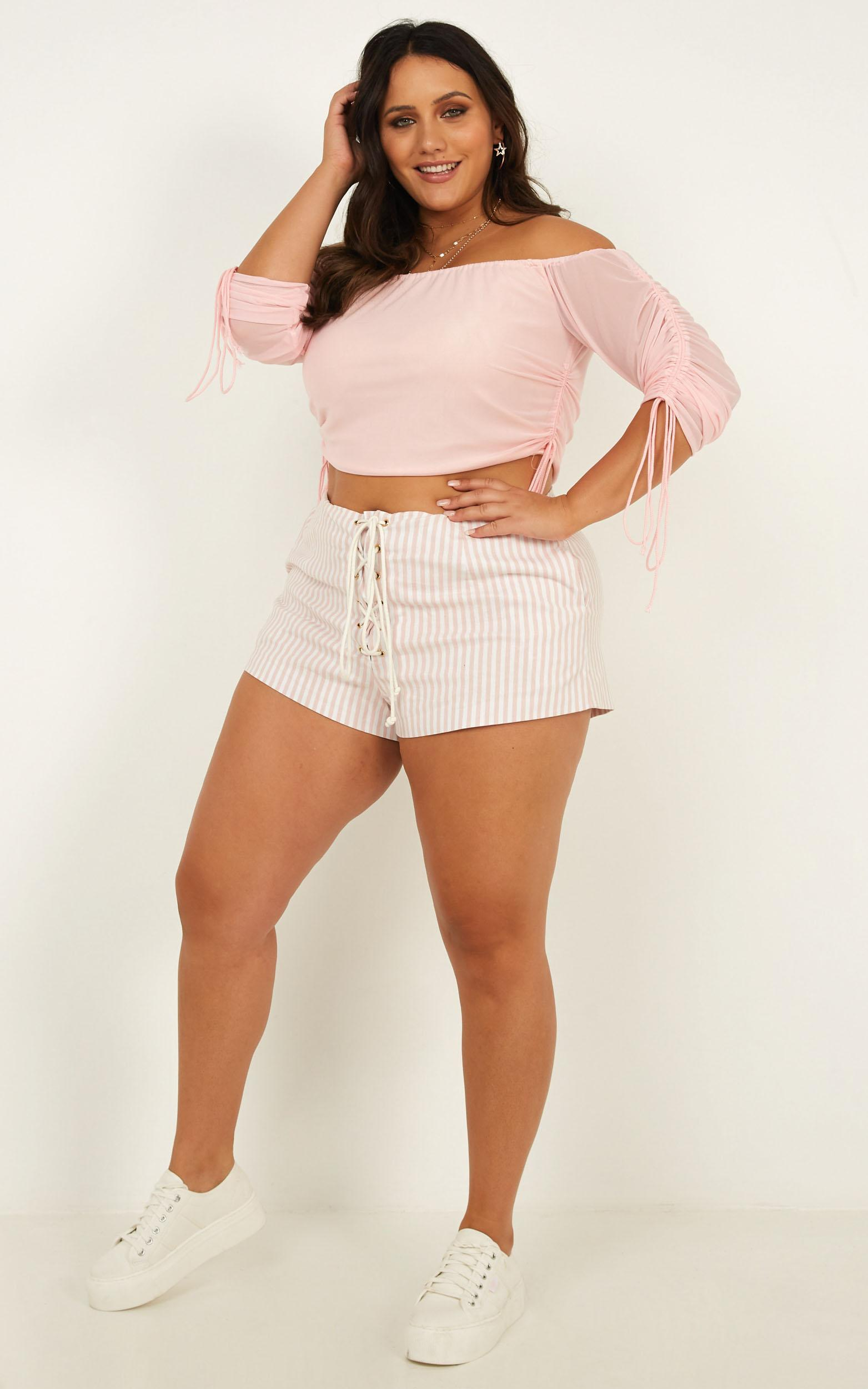My Pearl Top in pink mesh - 18 (XXXL), Pink, hi-res image number null