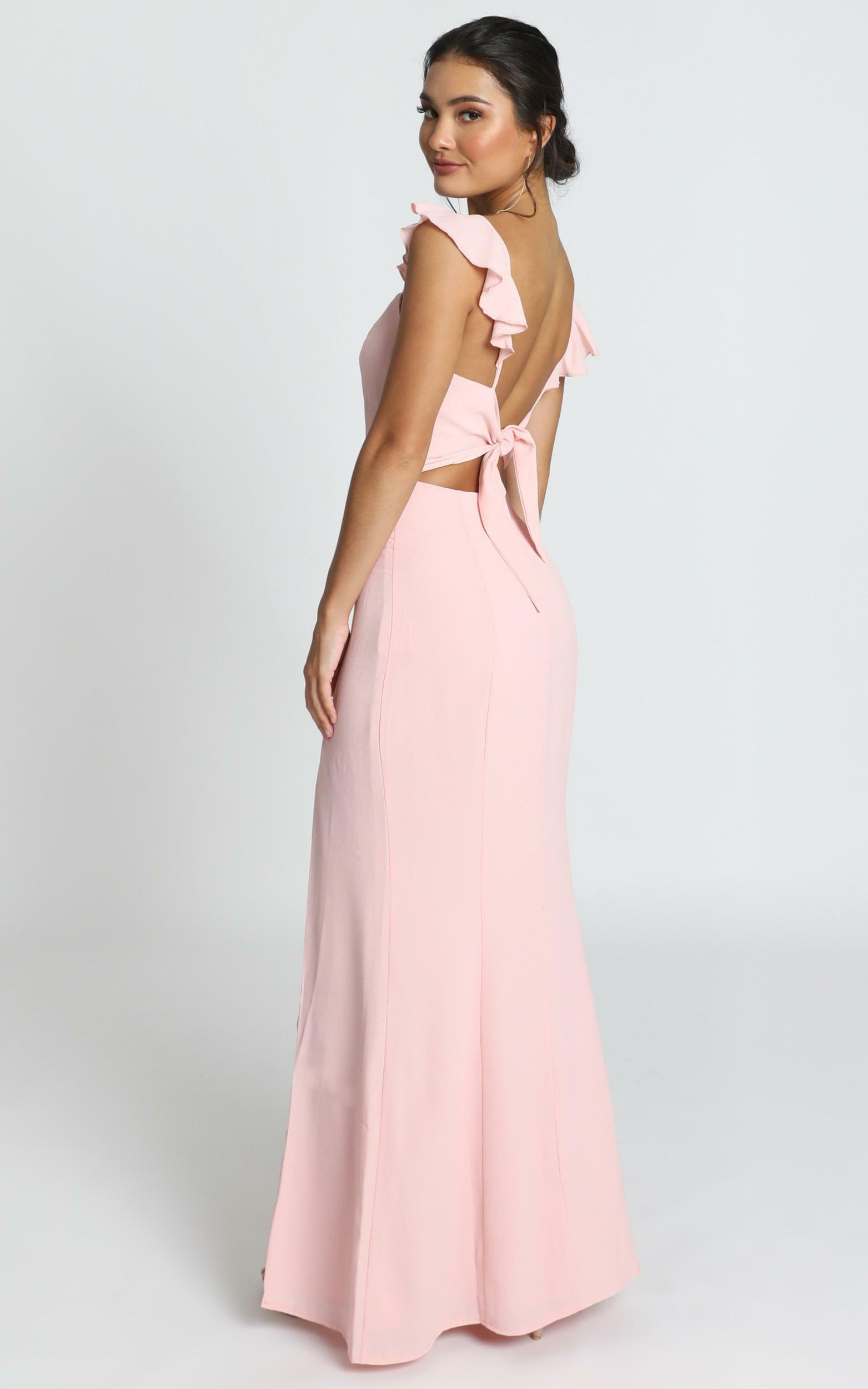 More Than This Ruffle Strap Maxi Dress in Blush - 06, PNK2, hi-res image number null