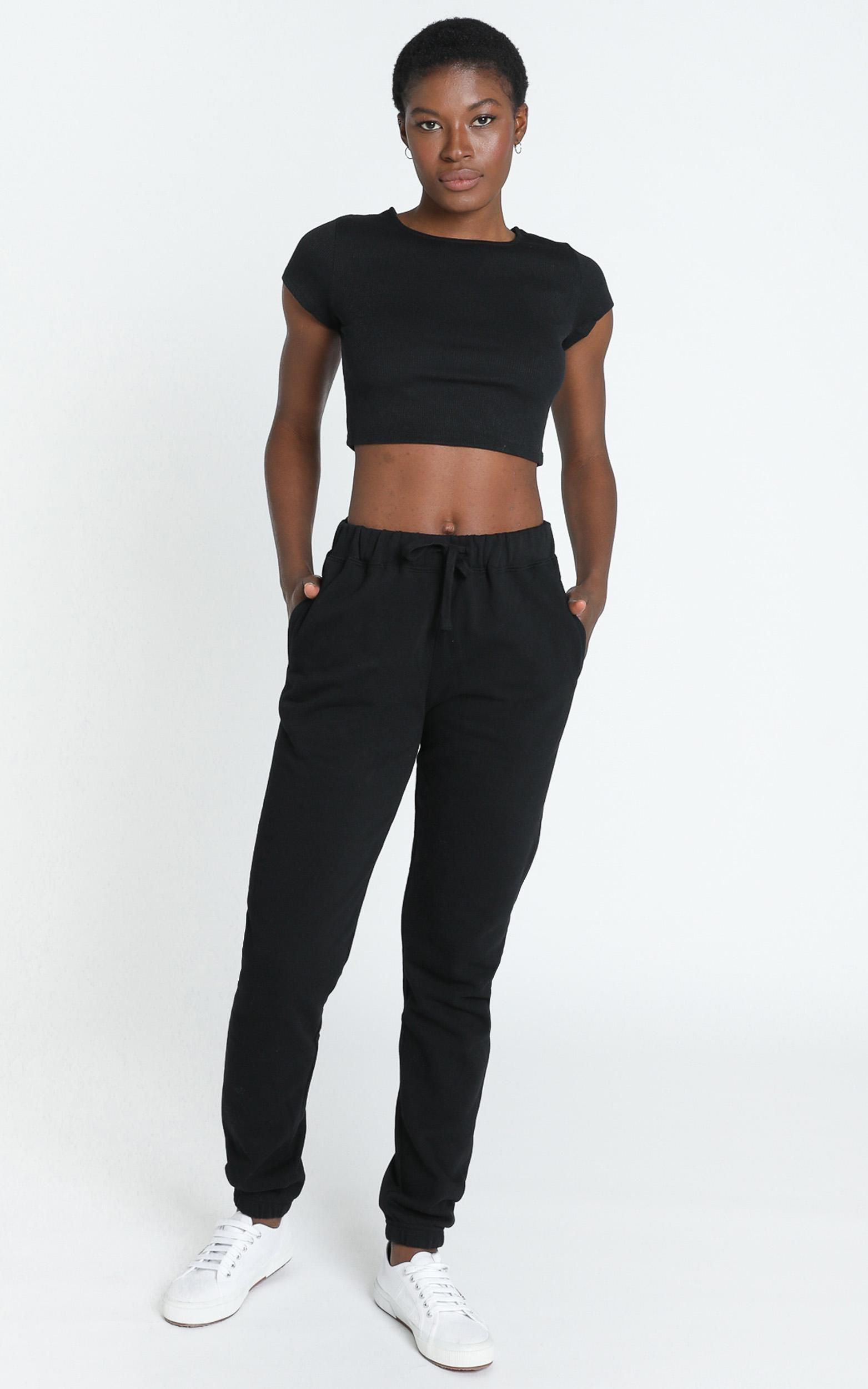 AS Colour - Surplus Track Pants in Black - 6 (XS), Black, hi-res image number null