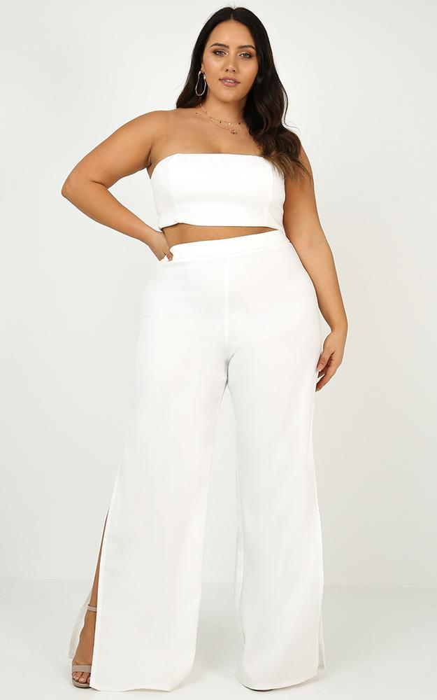 Im The One Two Piece Set in White - 8 (S), White, hi-res image number null