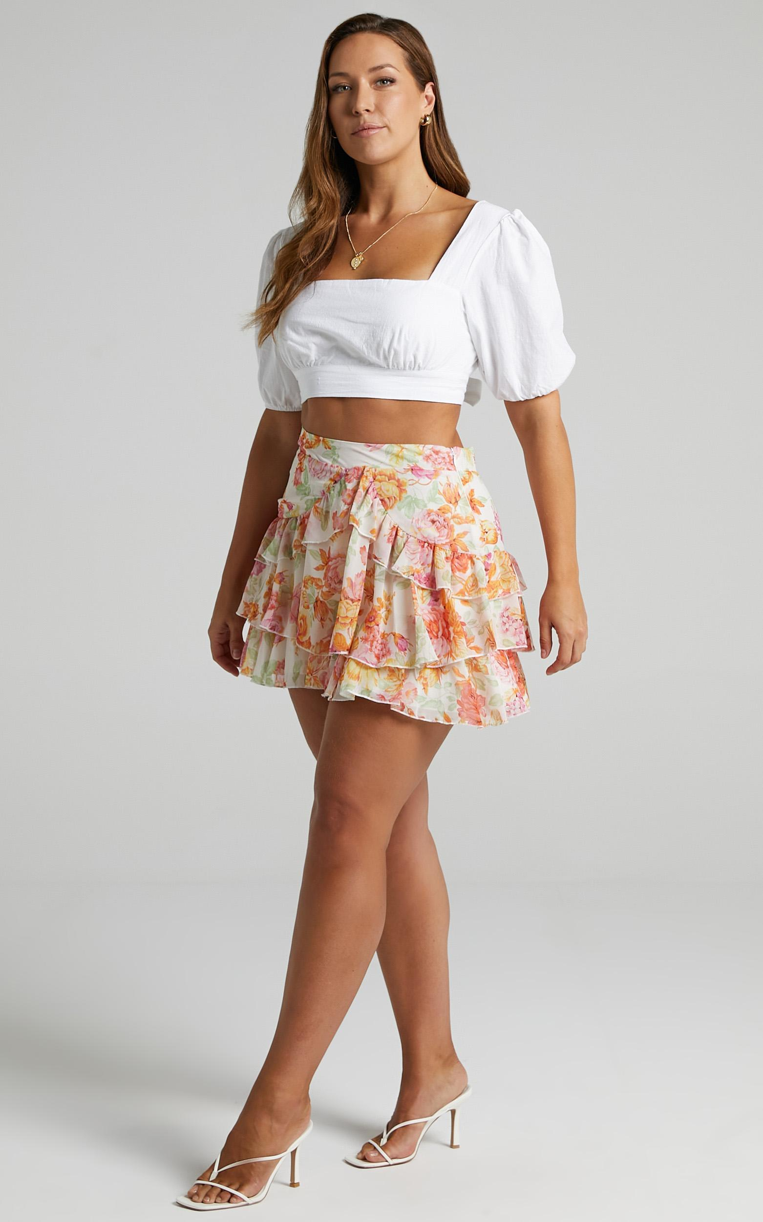Balin Skirt in Romantic Floral - 06, MLT1, hi-res image number null