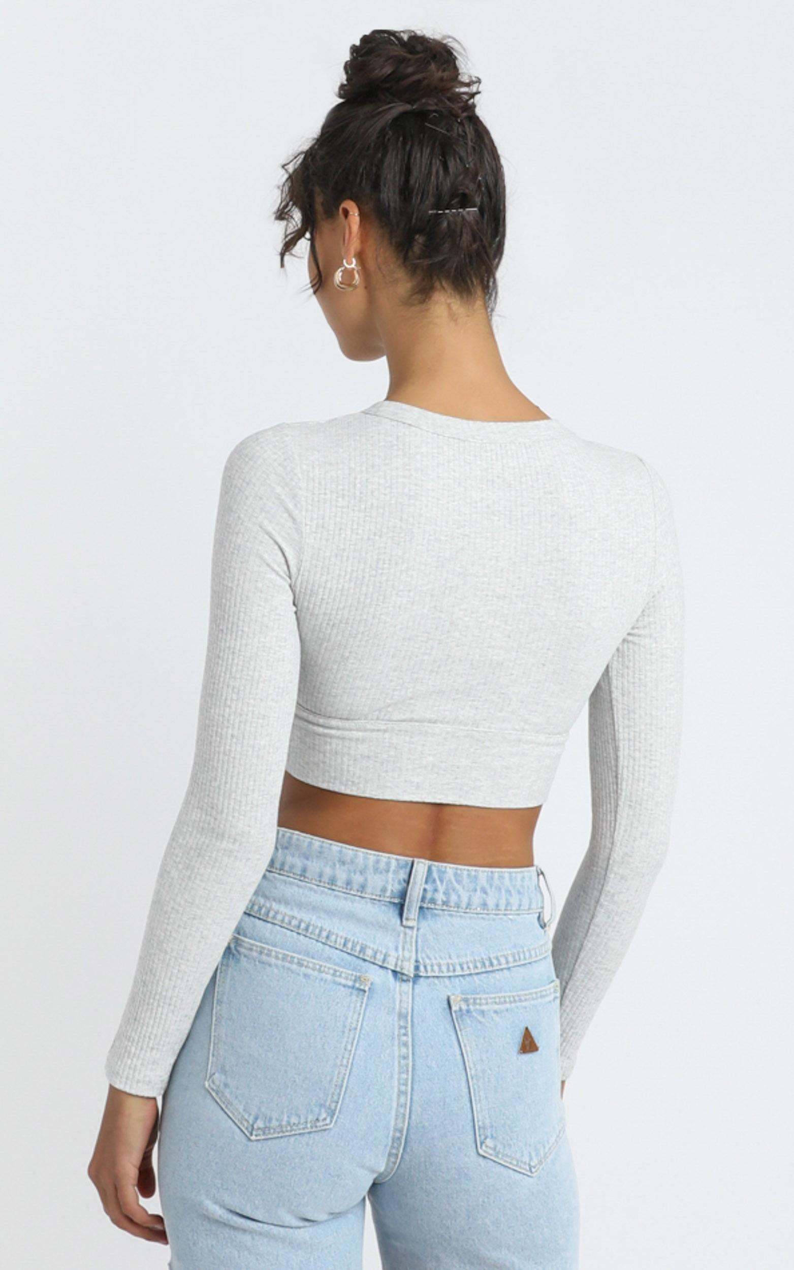 Asher Top in Grey Marle - 12 (L), Grey, hi-res image number null
